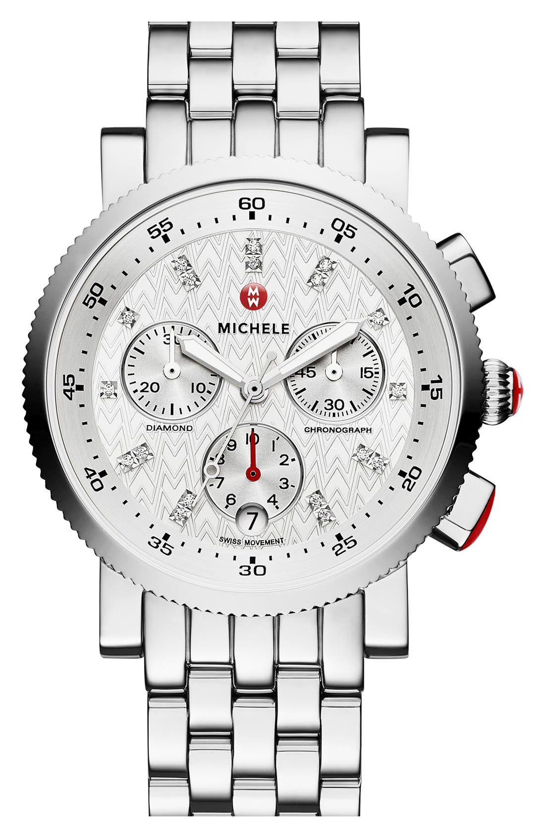 Alternate Image 2  - MICHELE Sport Sail Chronograph Watch Head, 38mm
