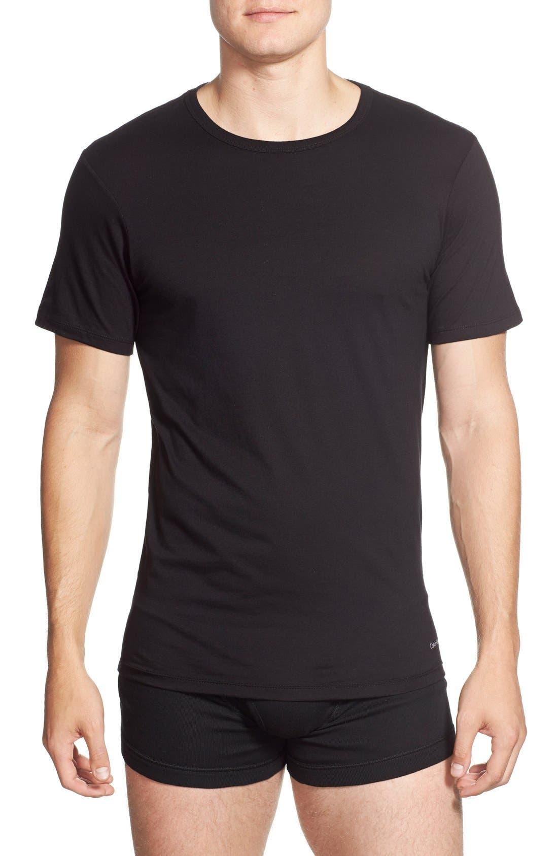 Alternate Image 2  - Calvin Klein Slim Fit 3-Pack Cotton T-Shirt