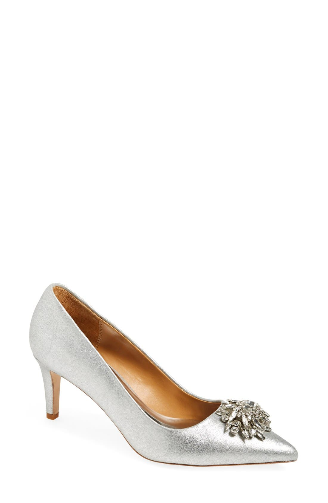 Main Image - Badgley Mischka 'Gardenia' Pointy Toe Pump (Women)