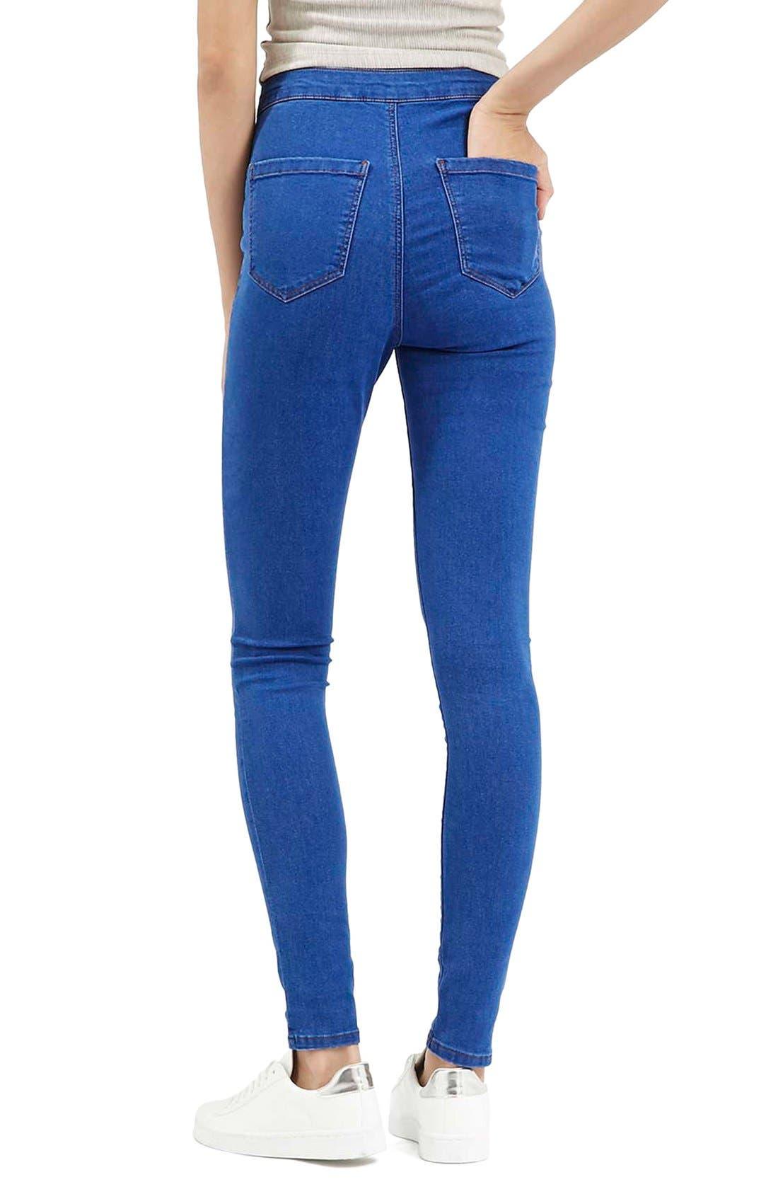 Alternate Image 3  - Topshop'Joni' High Rise Skinny Jeans (Bright Blue)
