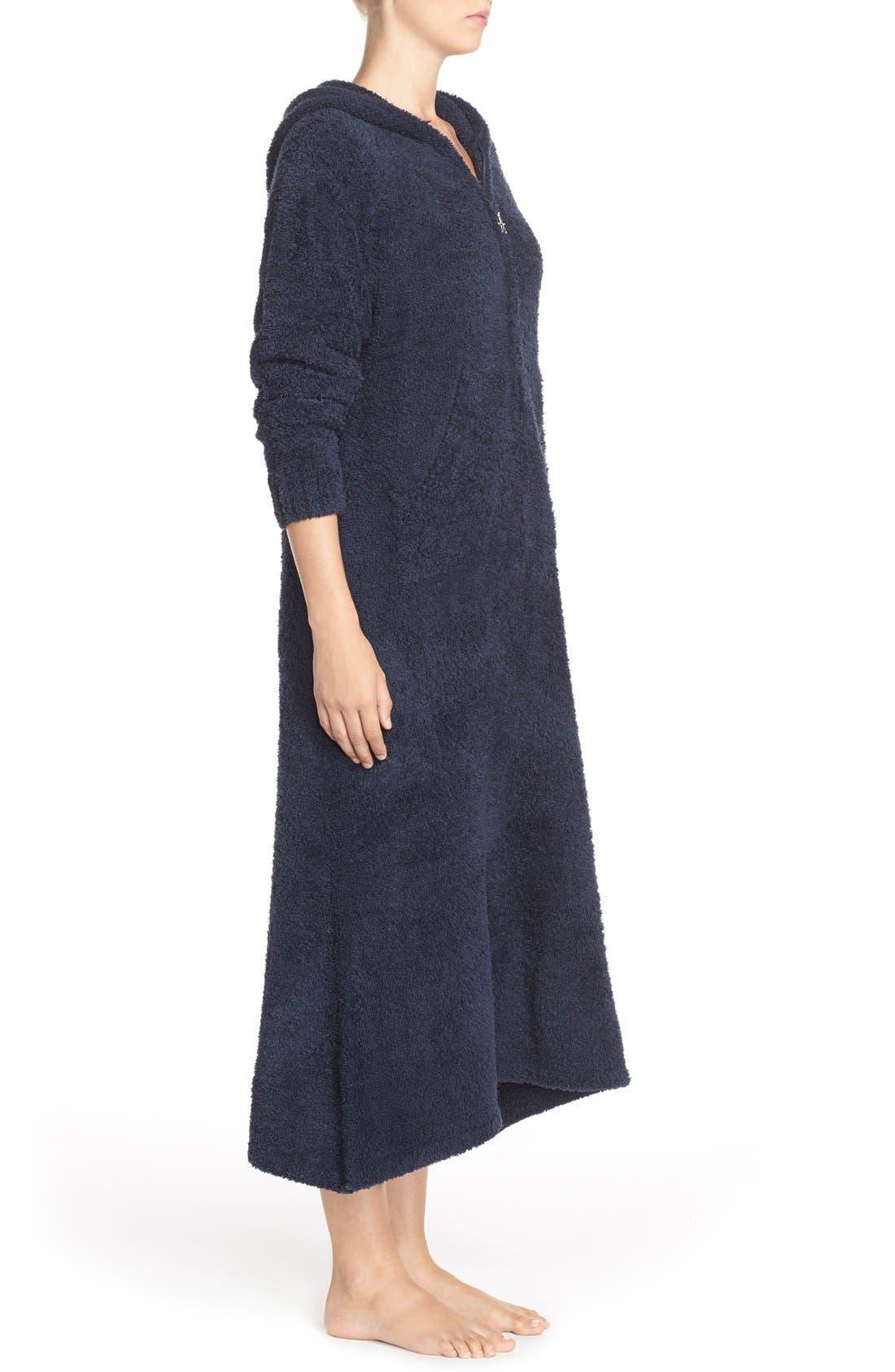 Alternate Image 3  - Barefoot Dreams® CozyChic® Hooded Zip Robe