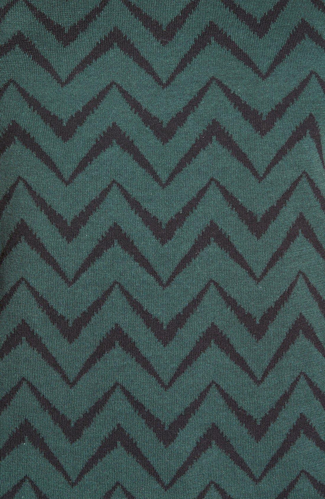 Alternate Image 5  - Anne Klein Chevron Stripe Crewneck Sweater