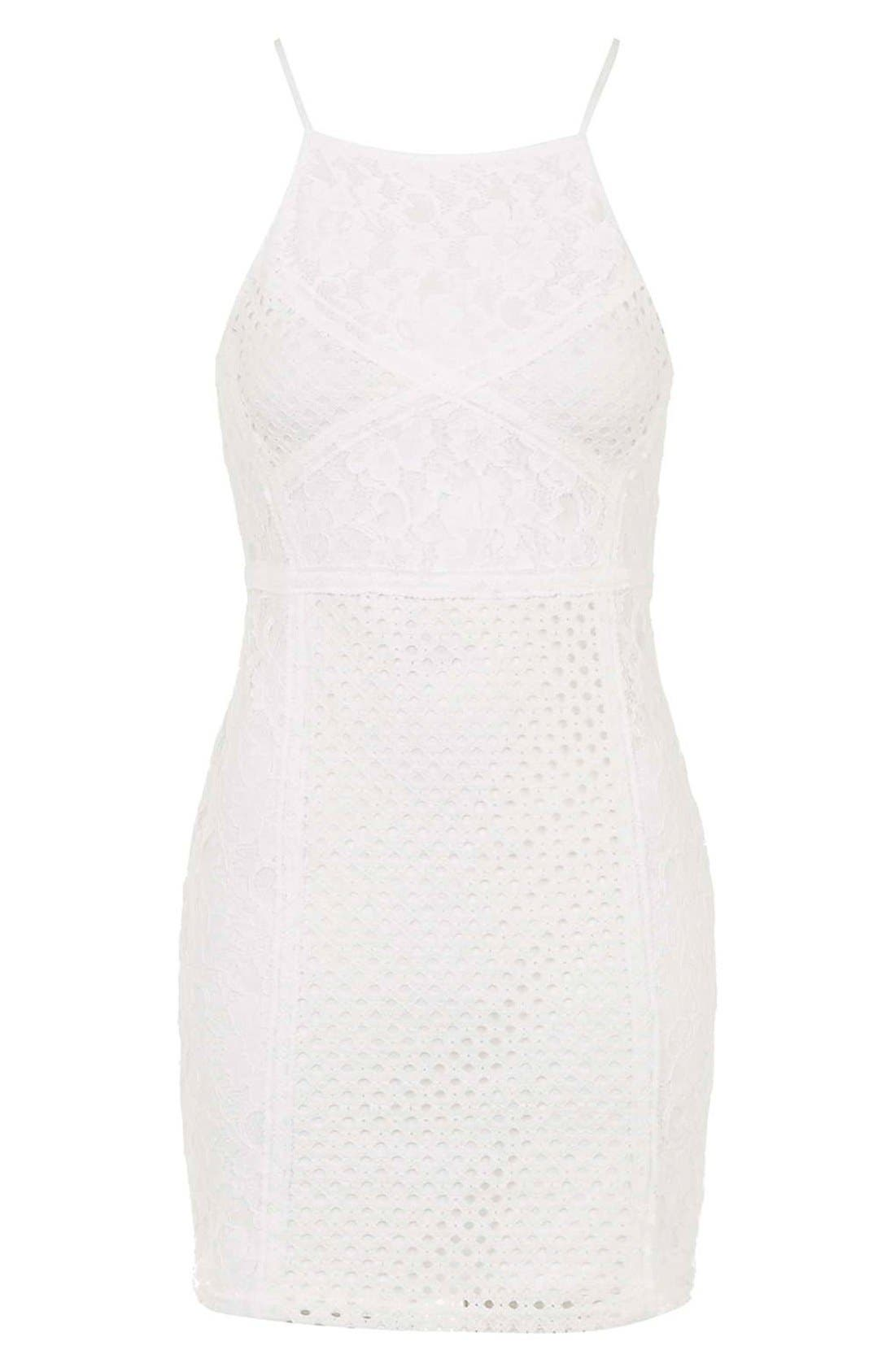 Alternate Image 4  - TopshopLace Body-Con Dress (Petite)