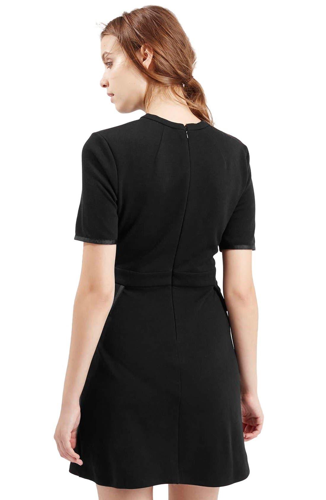 Alternate Image 3  - TopshopHigh Neck A-Line Dress