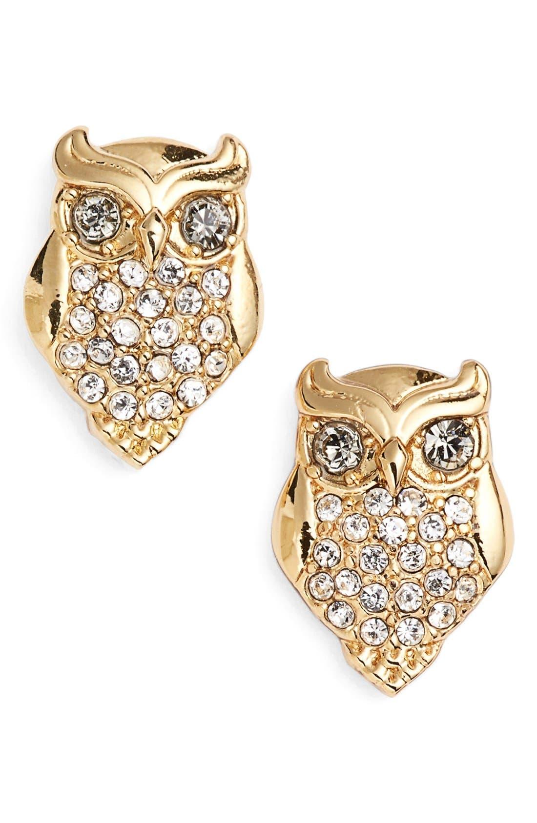 Alternate Image 1 Selected - katespade new yorkowl stud earrings