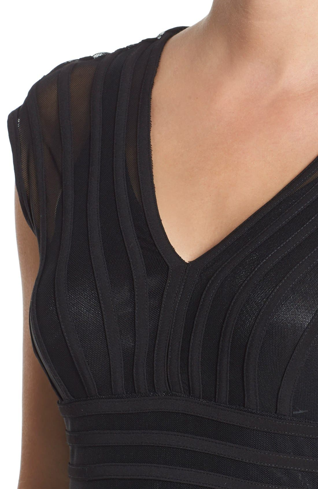 Alternate Image 4  - Adrianna Papell Shutter Pleat Jersey Sheath Dress (Regular & Petite) (Nordstrom Exclusive)