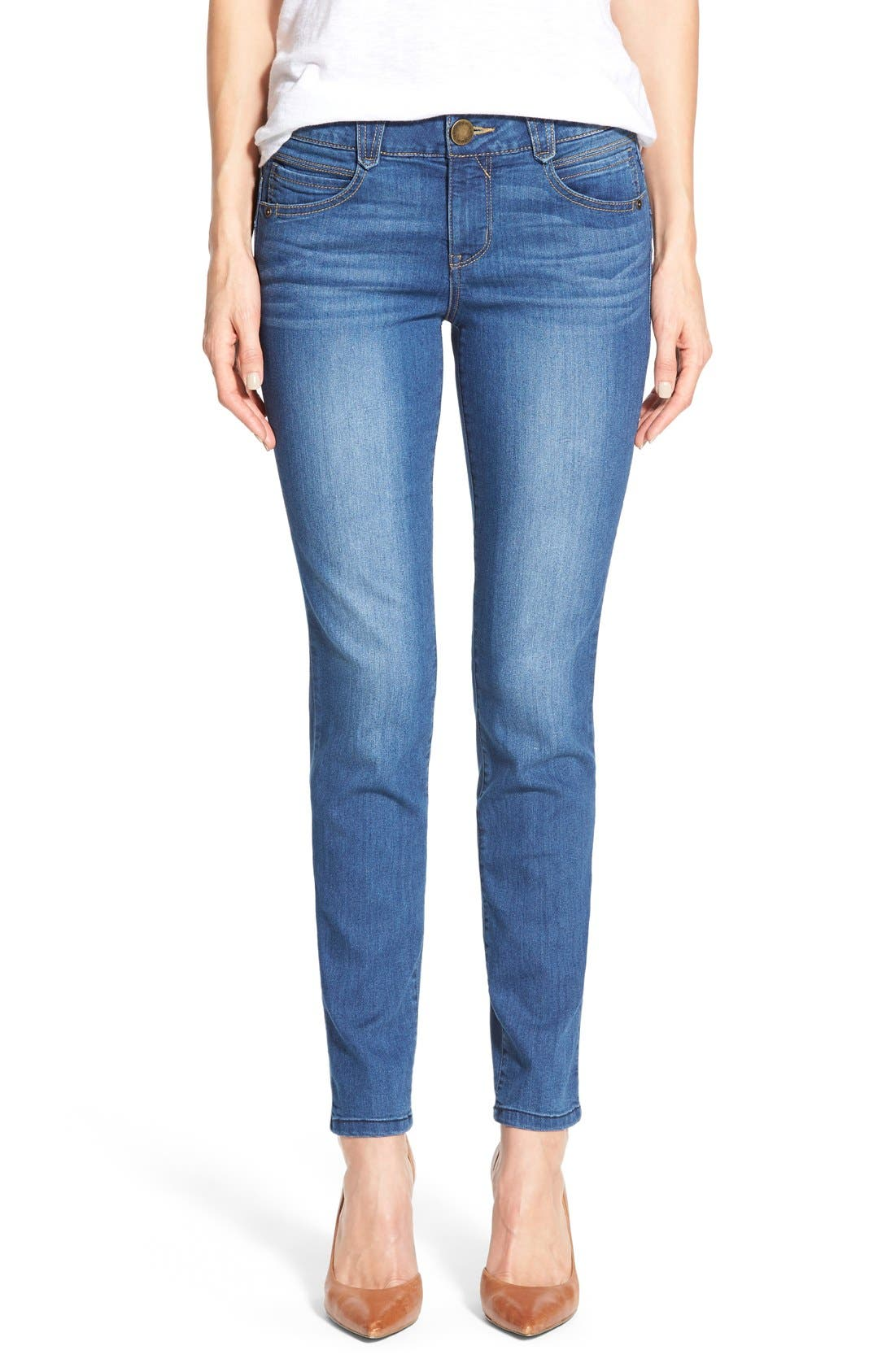 Alternate Image 1 Selected - Wit & Wisdom 'Ab-solution' Booty Lift Stretch Skinny Jeans (Nordstrom Exclusive)