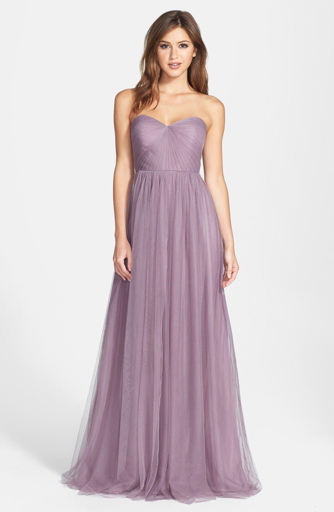 Annabelle Convertible Tulle Column Dress, Lilac