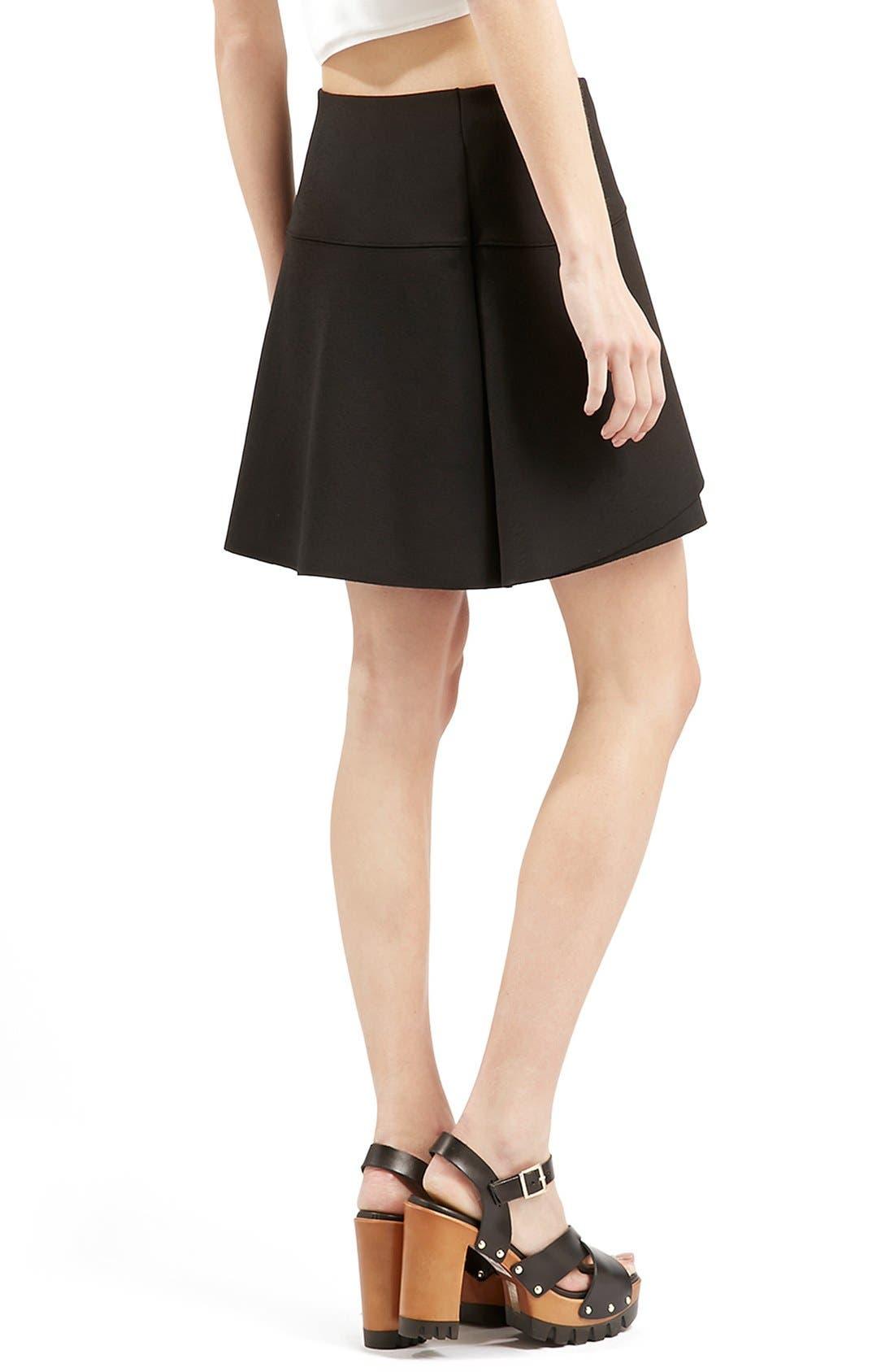Alternate Image 3  - Topshop Curved Hem Skater Skirt