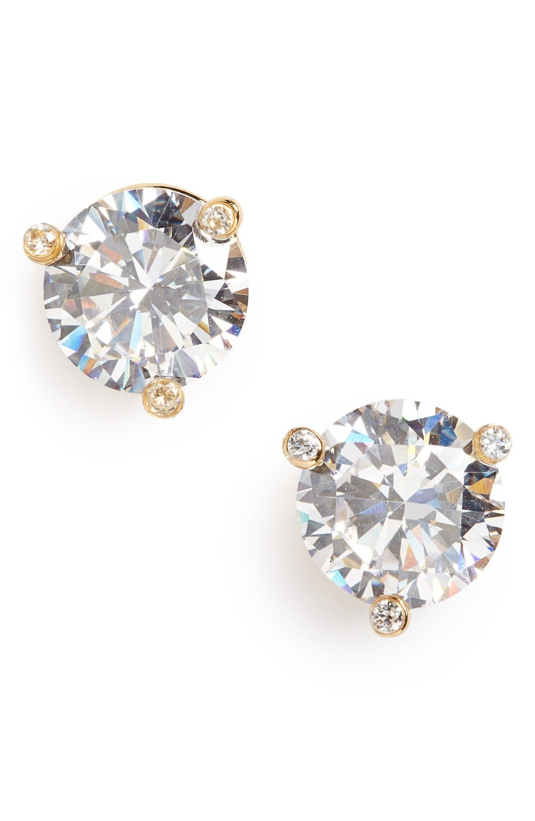 'rise and shine' stud earrings,                             Main thumbnail 1, color,                             Clear