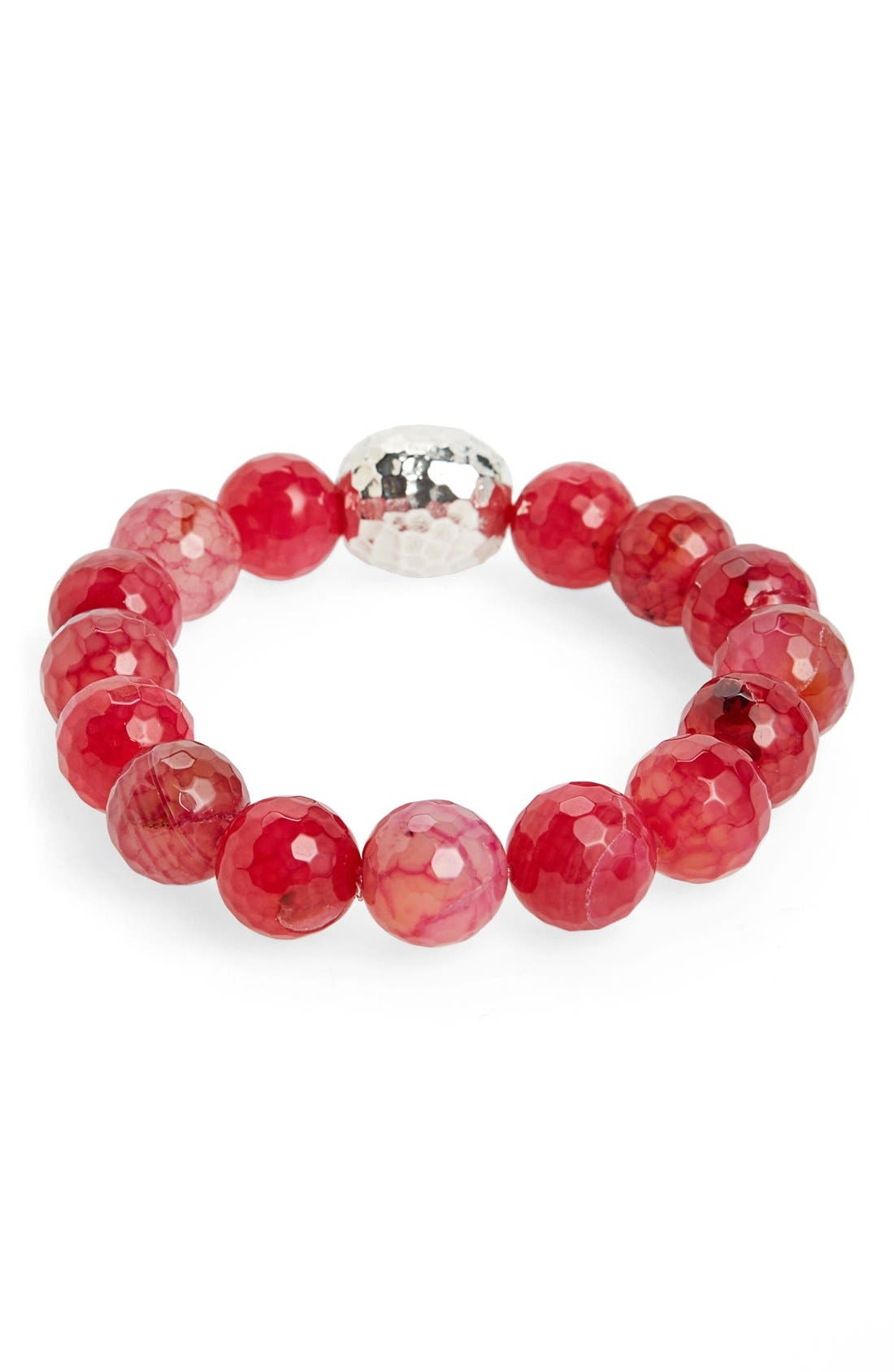 Stretch Bracelet,                         Main,                         color, Red Fire Agate