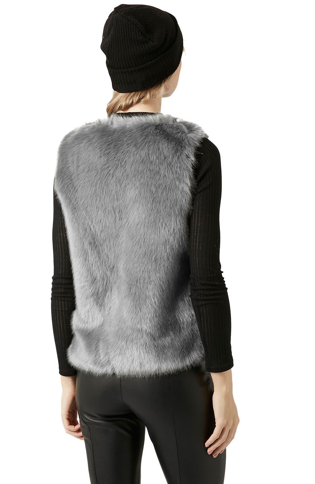 Alternate Image 3  - Topshop Faux Fur Gilet Vest
