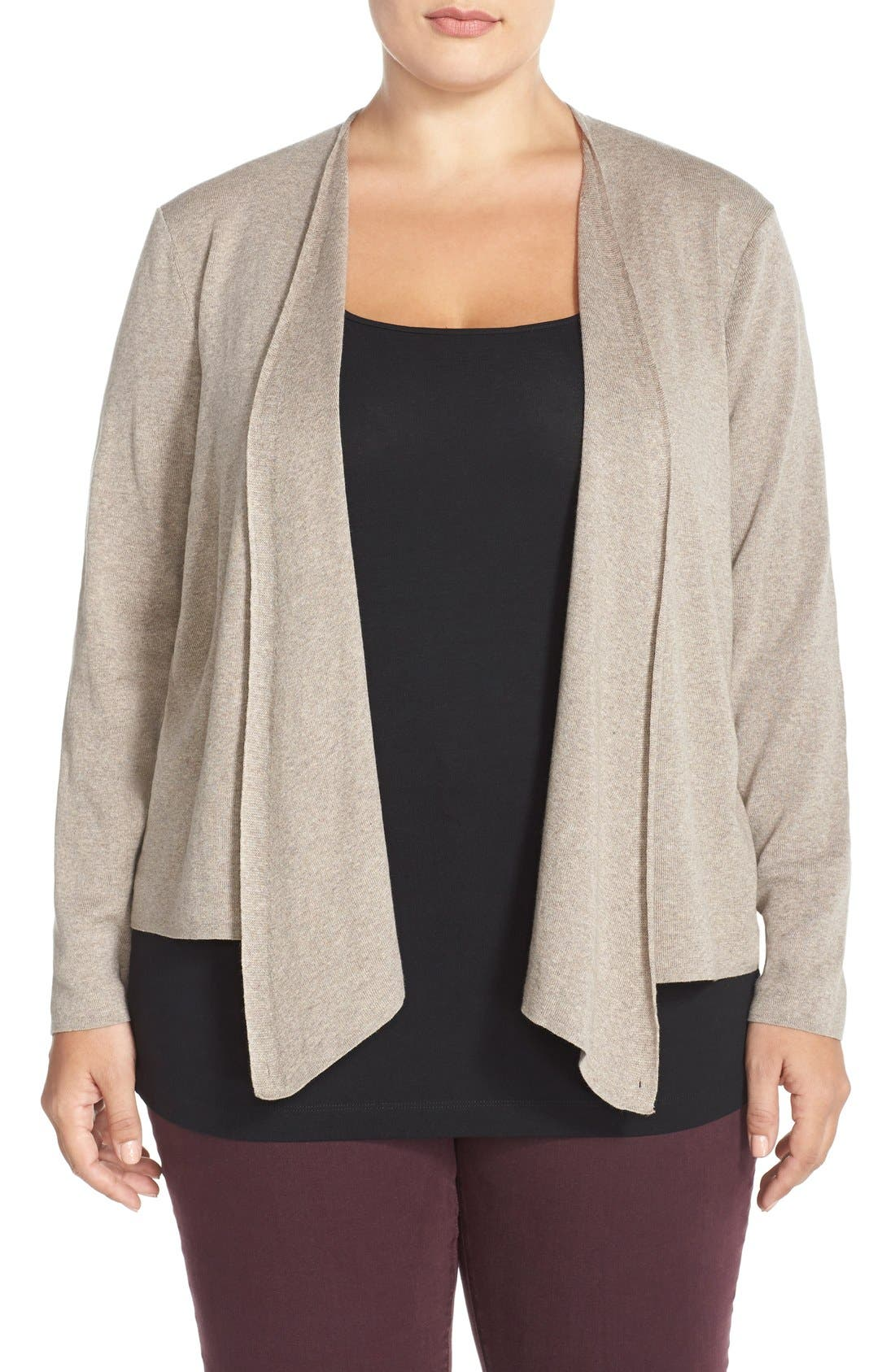 Main Image - NIC+ZOE 4-Way Convertible Cardigan (Plus Size)