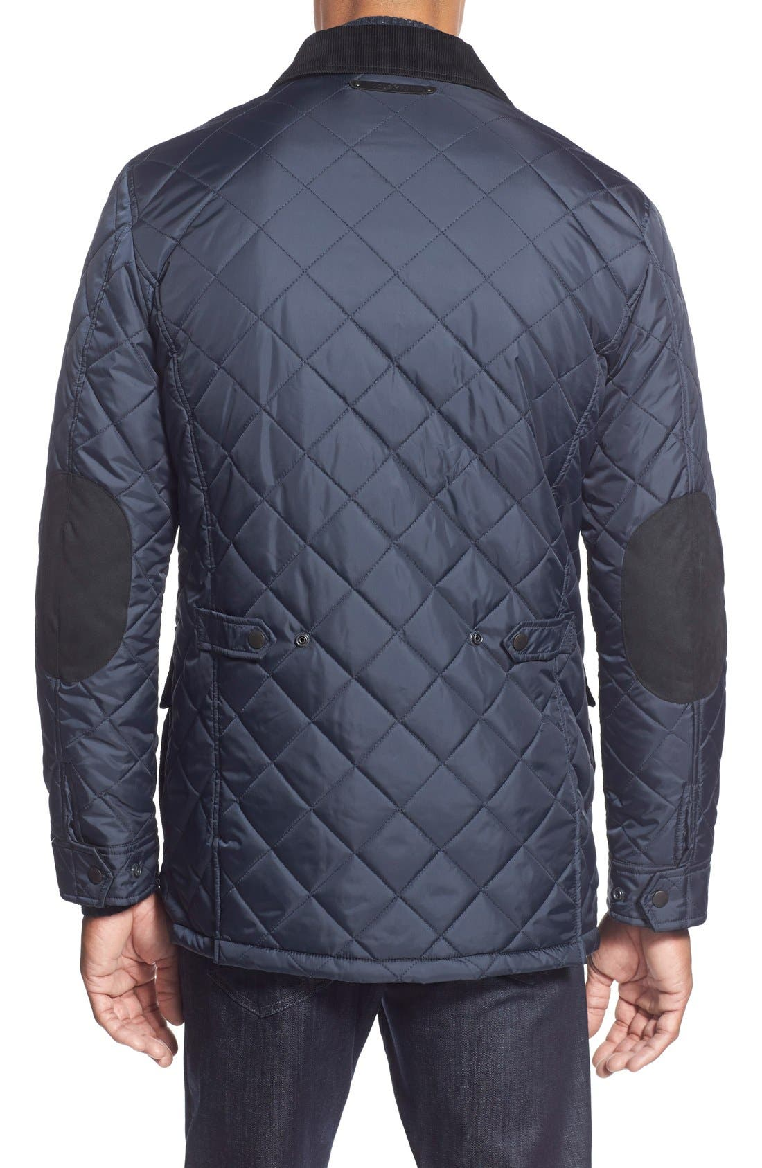 Quilted Jacket,                             Alternate thumbnail 2, color,                             Navy