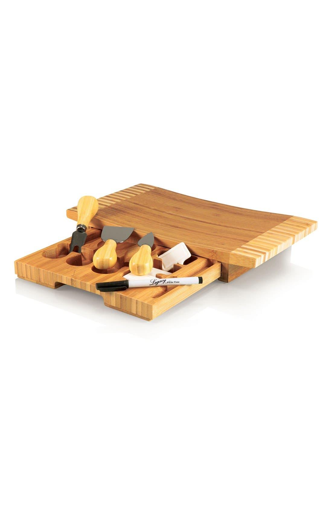 'Concavo' Cheese Board Set,                         Main,                         color, Brown