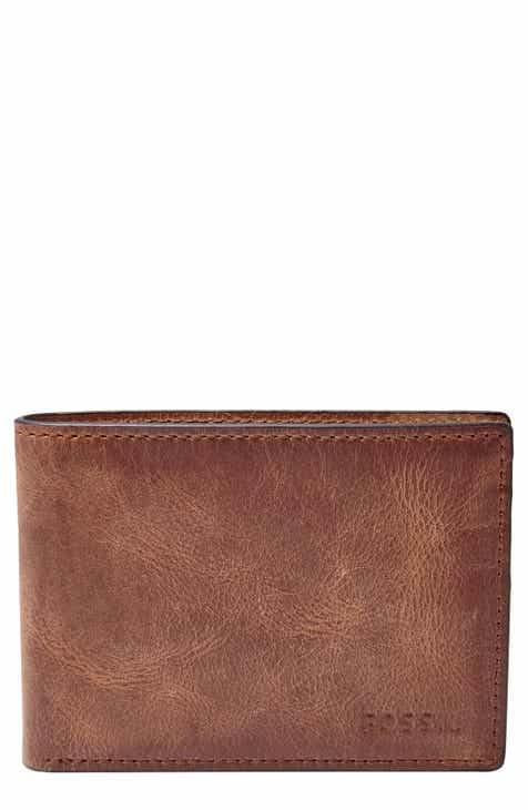 Fossil Derrick Leather Front Pocket Bifold Wallet