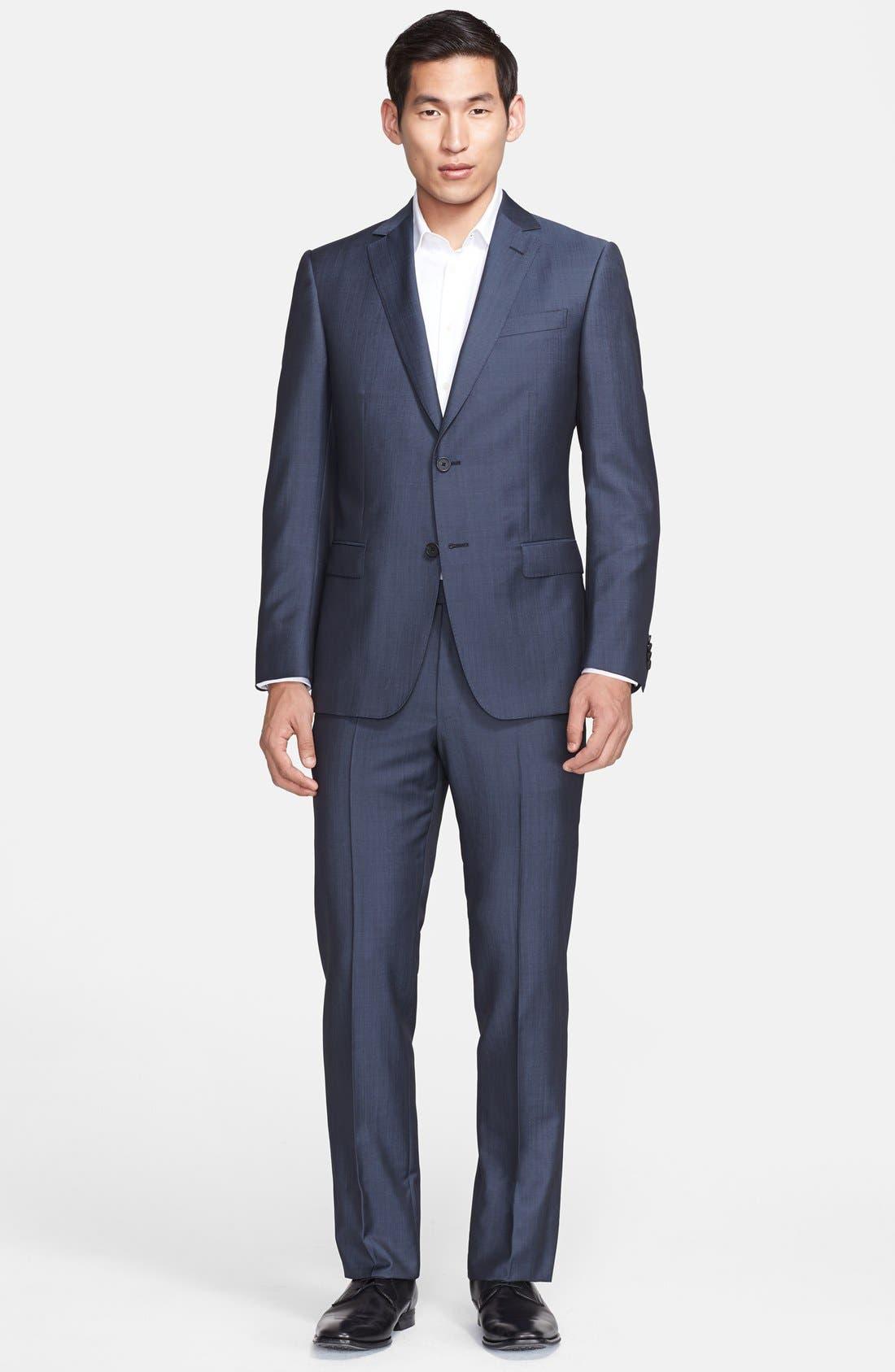 Z Zegna Trim Fit Wool & Mohair Suit