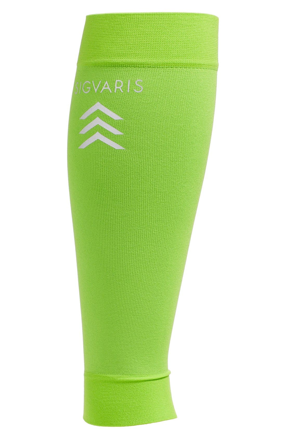 'Sports' Graduated Compression Performance Calf Sleeve,                         Main,                         color, Lime