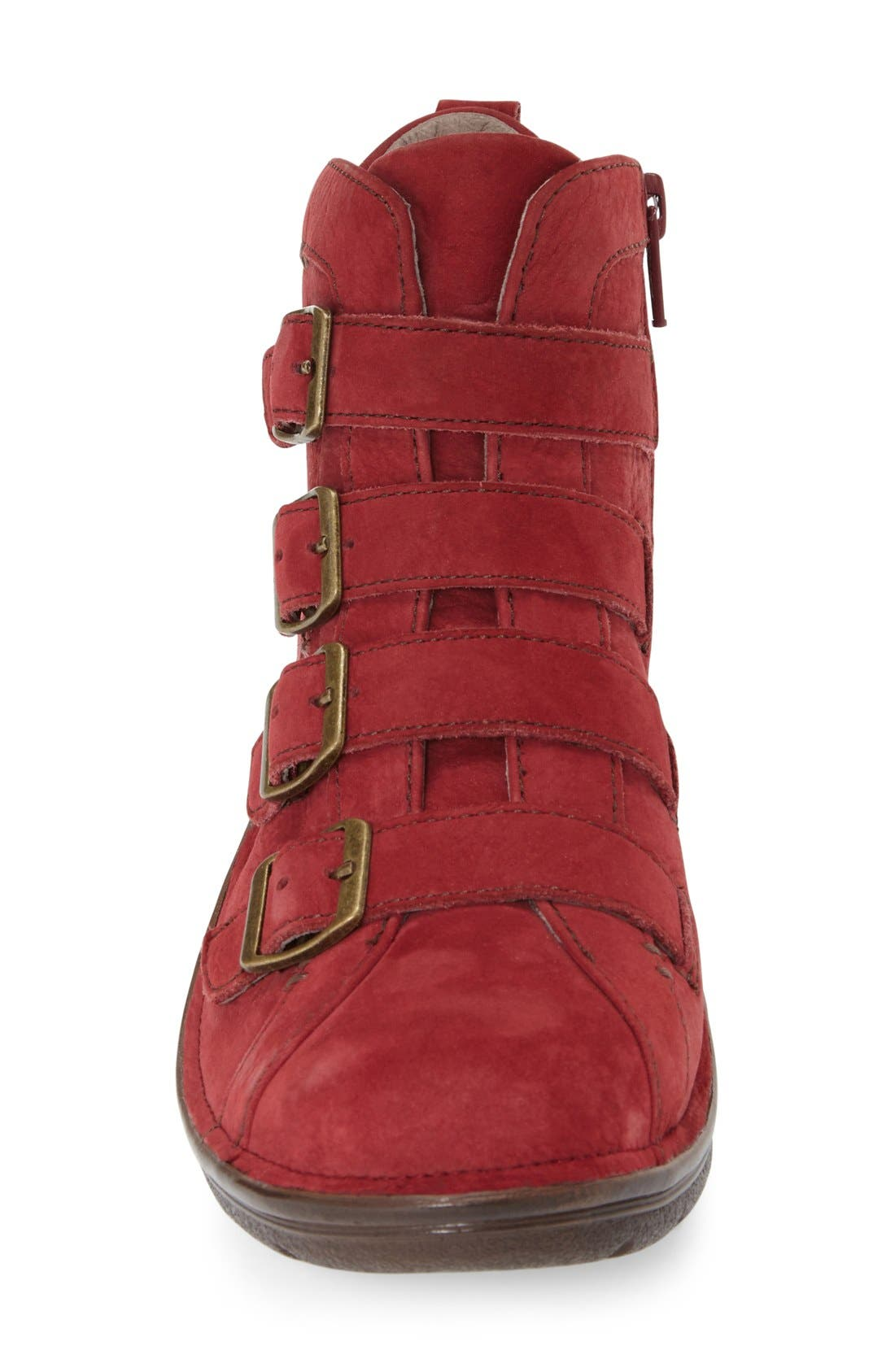 'Orion' Bootie,                             Alternate thumbnail 3, color,                             Red Leather
