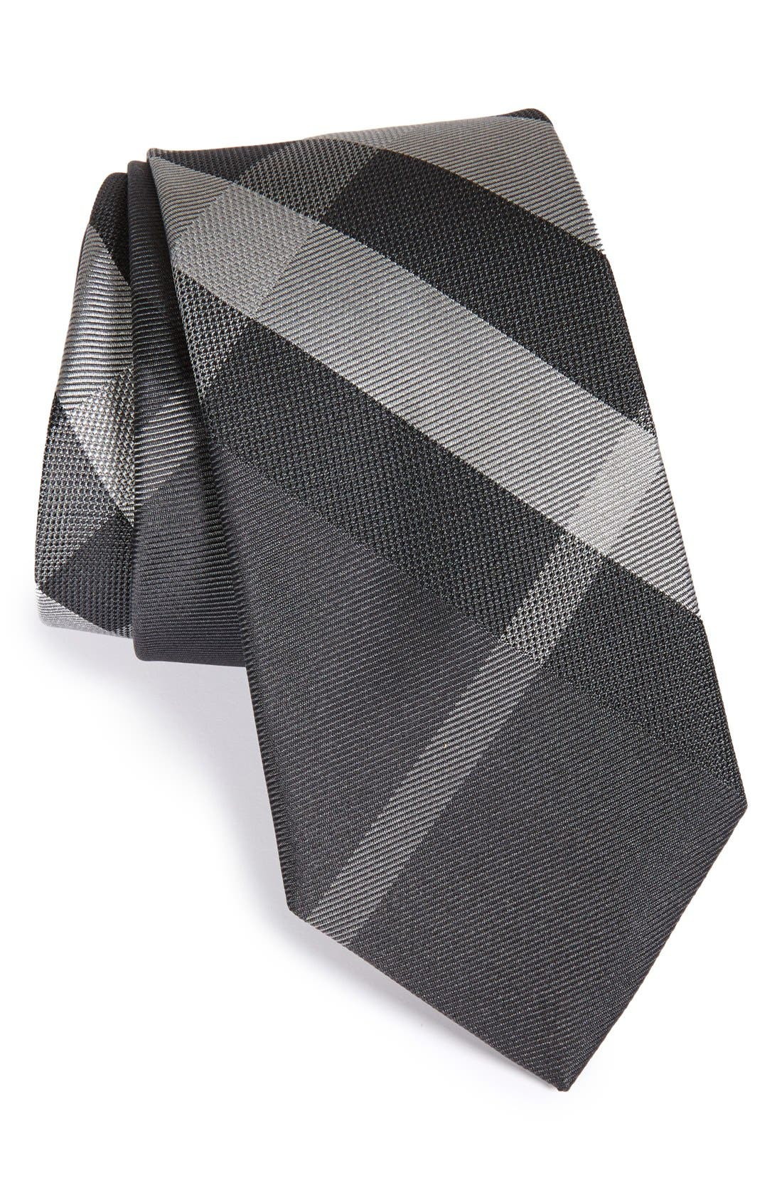 Manston Check Silk Tie,                         Main,                         color, Beat Mens