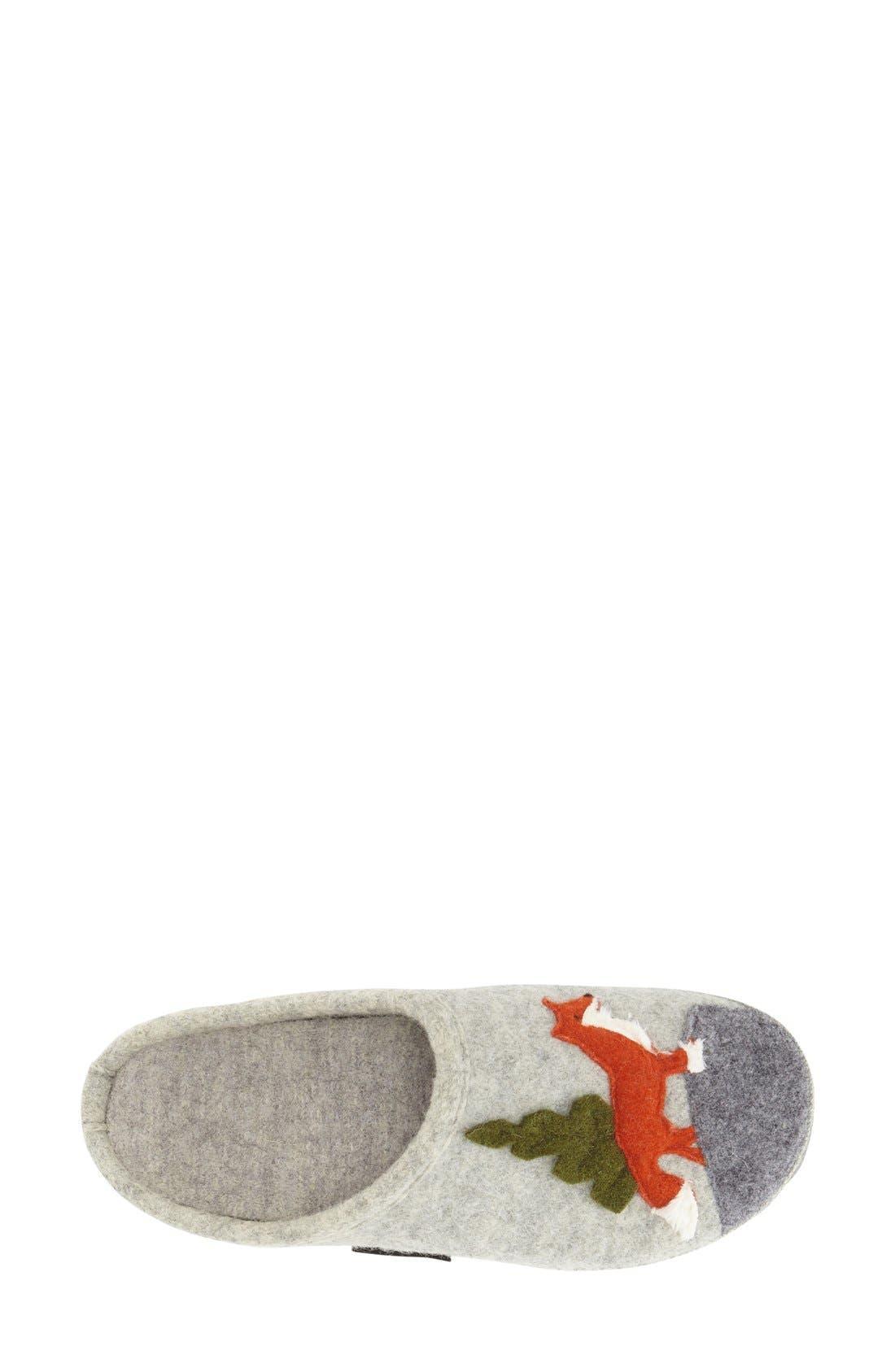 'Laura' Slipper,                             Alternate thumbnail 3, color,                             Grey Wool