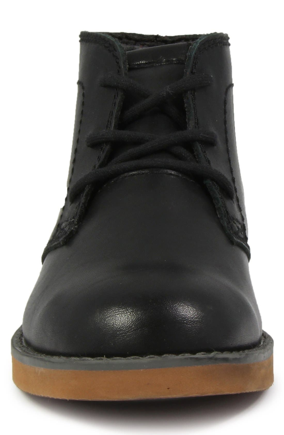 'Bucktown' Chukka Boot,                             Alternate thumbnail 2, color,                             Black Smooth With Brick Sole