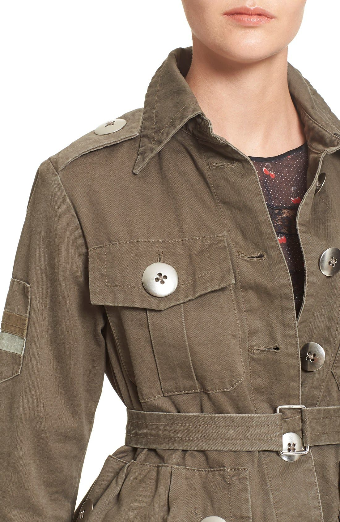 Alternate Image 4  - MARC BY MARC JACOBS Cotton Twill Military Jacket