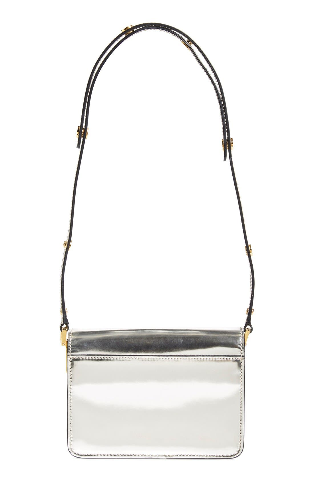 Alternate Image 3  - Marni 'Mini Trunk' Metallic Leather Shoulder Bag
