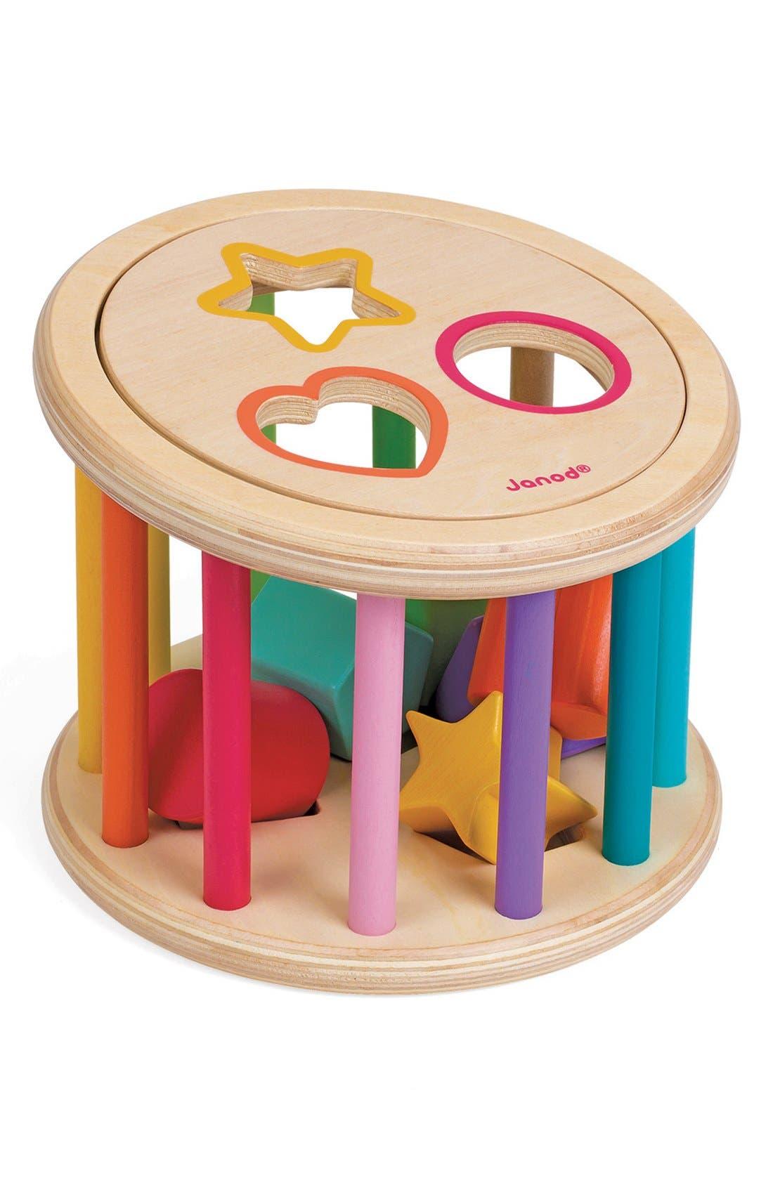 Wood Shape Sorter,                         Main,                         color, Pink