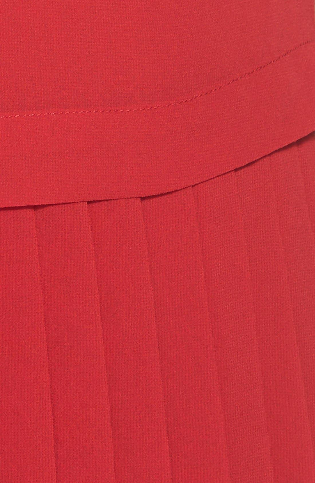 Alternate Image 5  - kensie Pleat Hem Drop Waist Shift Dress