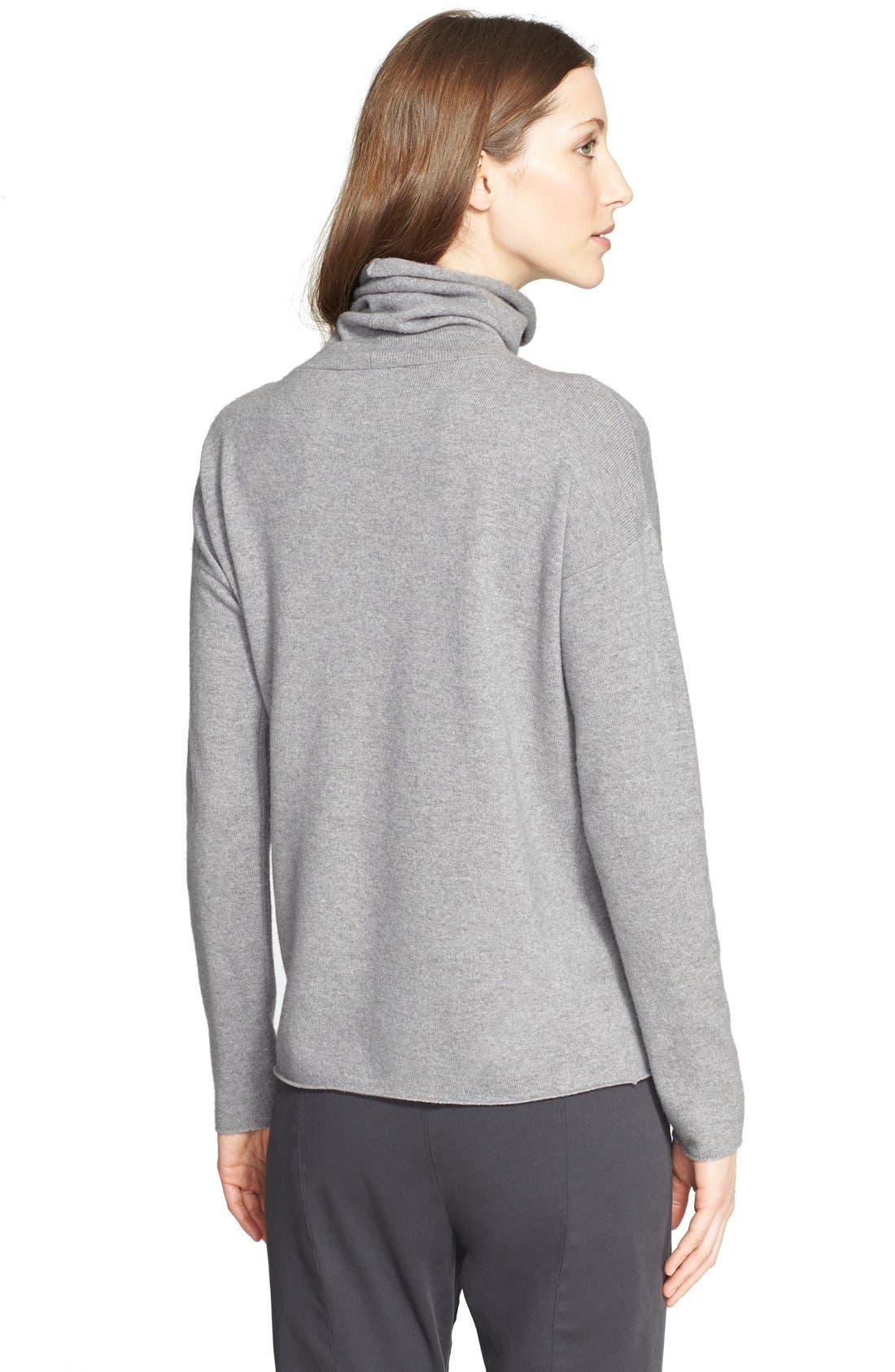 Alternate Image 2  - Fabiana Filippi Suede Contrast Wool Blend Turtleneck Sweater