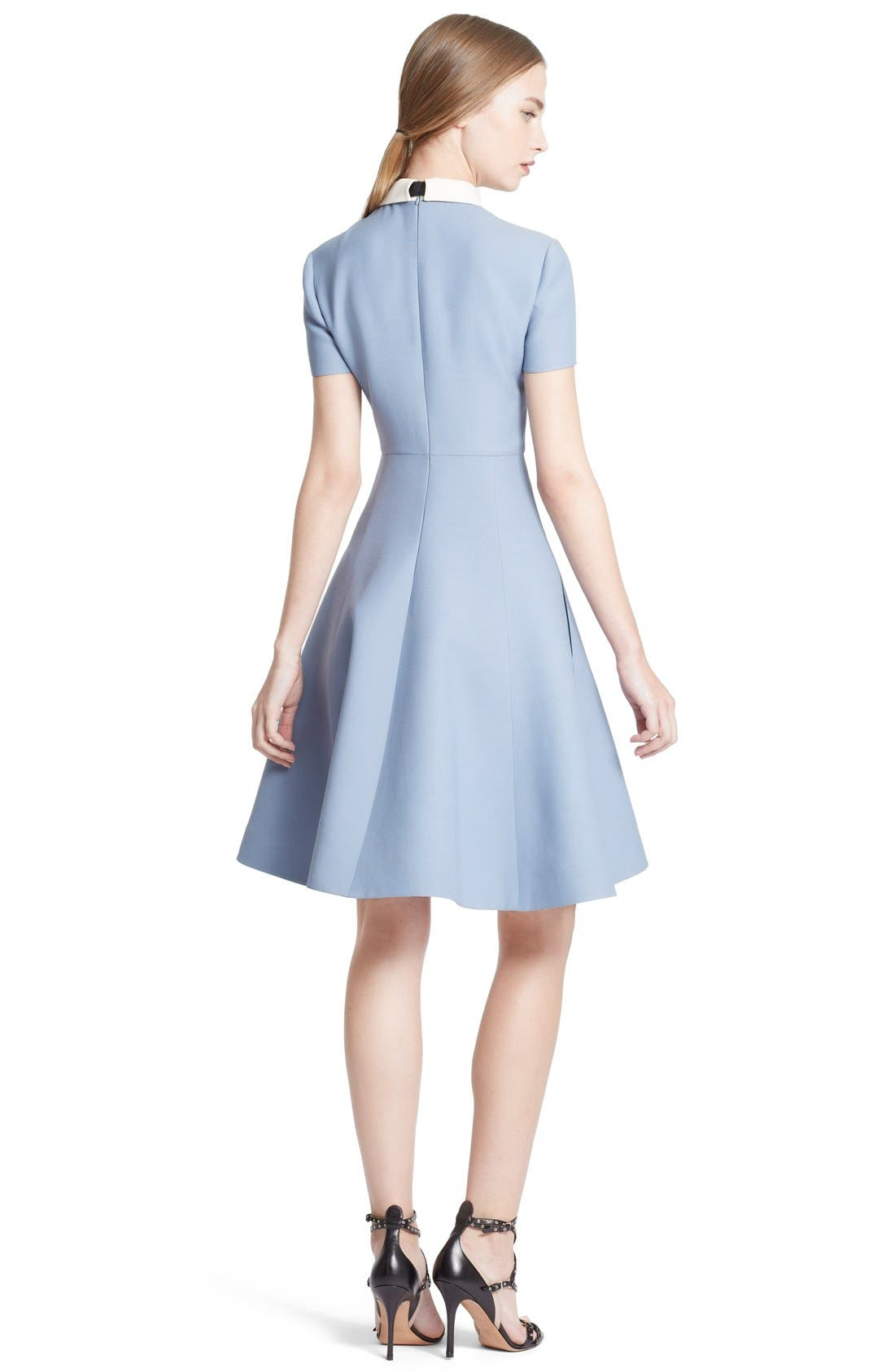 Alternate Image 2  - Valentino Bow Neck Short Sleeve A-Line Dress