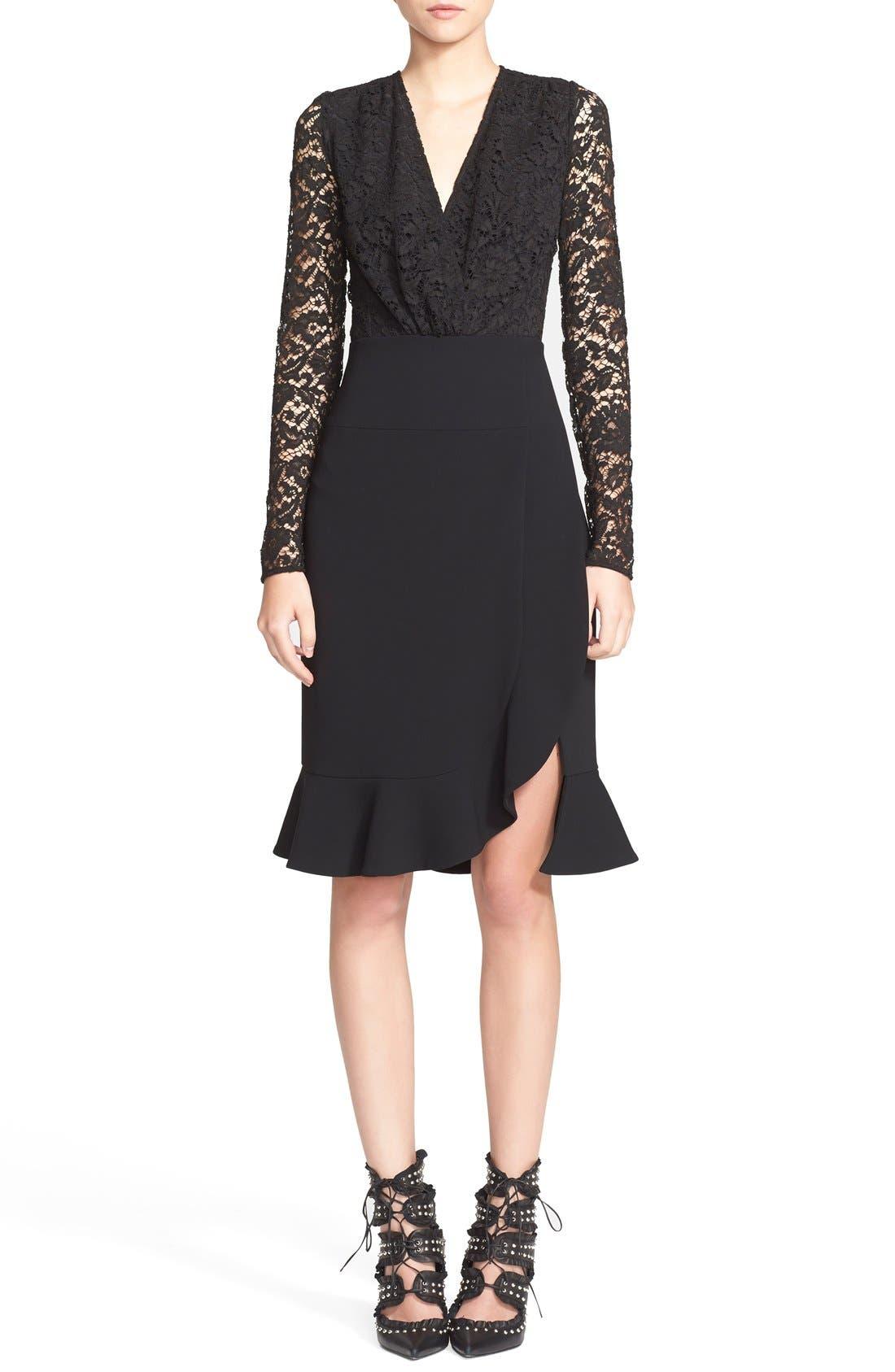 Alternate Image 1 Selected - Altuzarra Lace Bodice Ruffle Dress