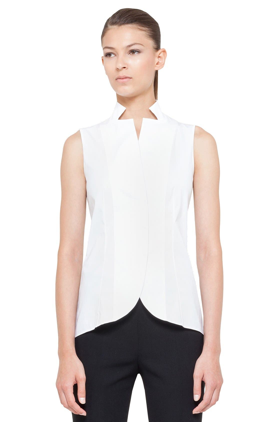 Alternate Image 1 Selected - Akris Notch Collar Blouse