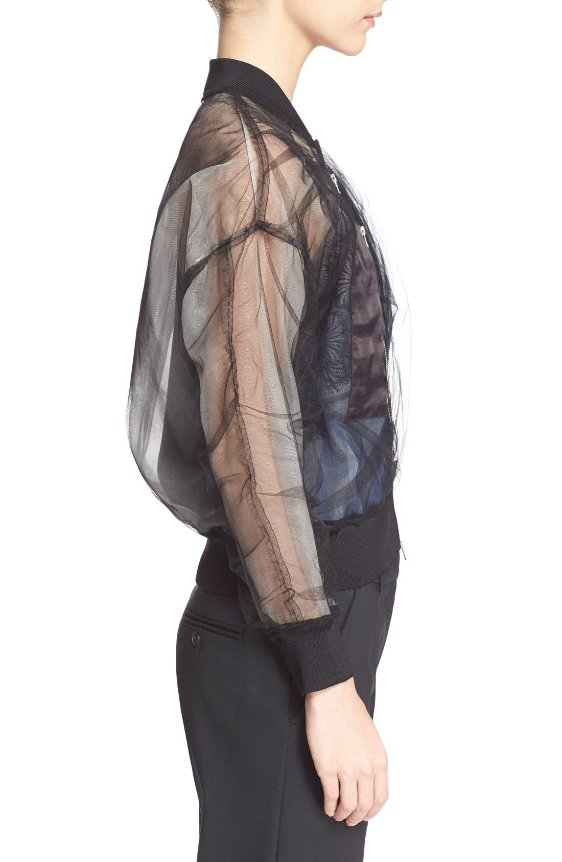 Alternate Image 3  - 3.1 Phillip Lim Gathered Sheer Chiffon Bomber Jacket