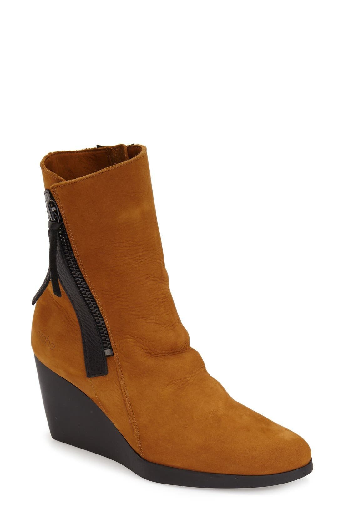 'Vitahe' Water ResistantBoot,                             Main thumbnail 1, color,                             Almond Nubuck Leather