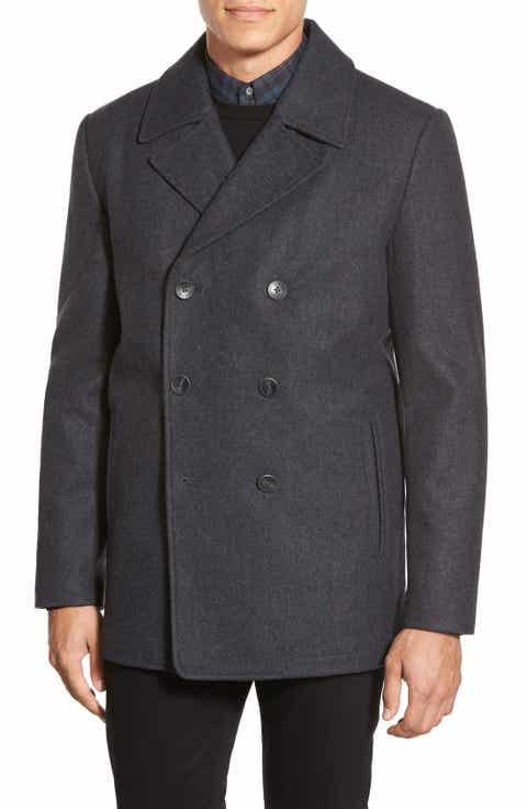 grey pea coat | Nordstrom