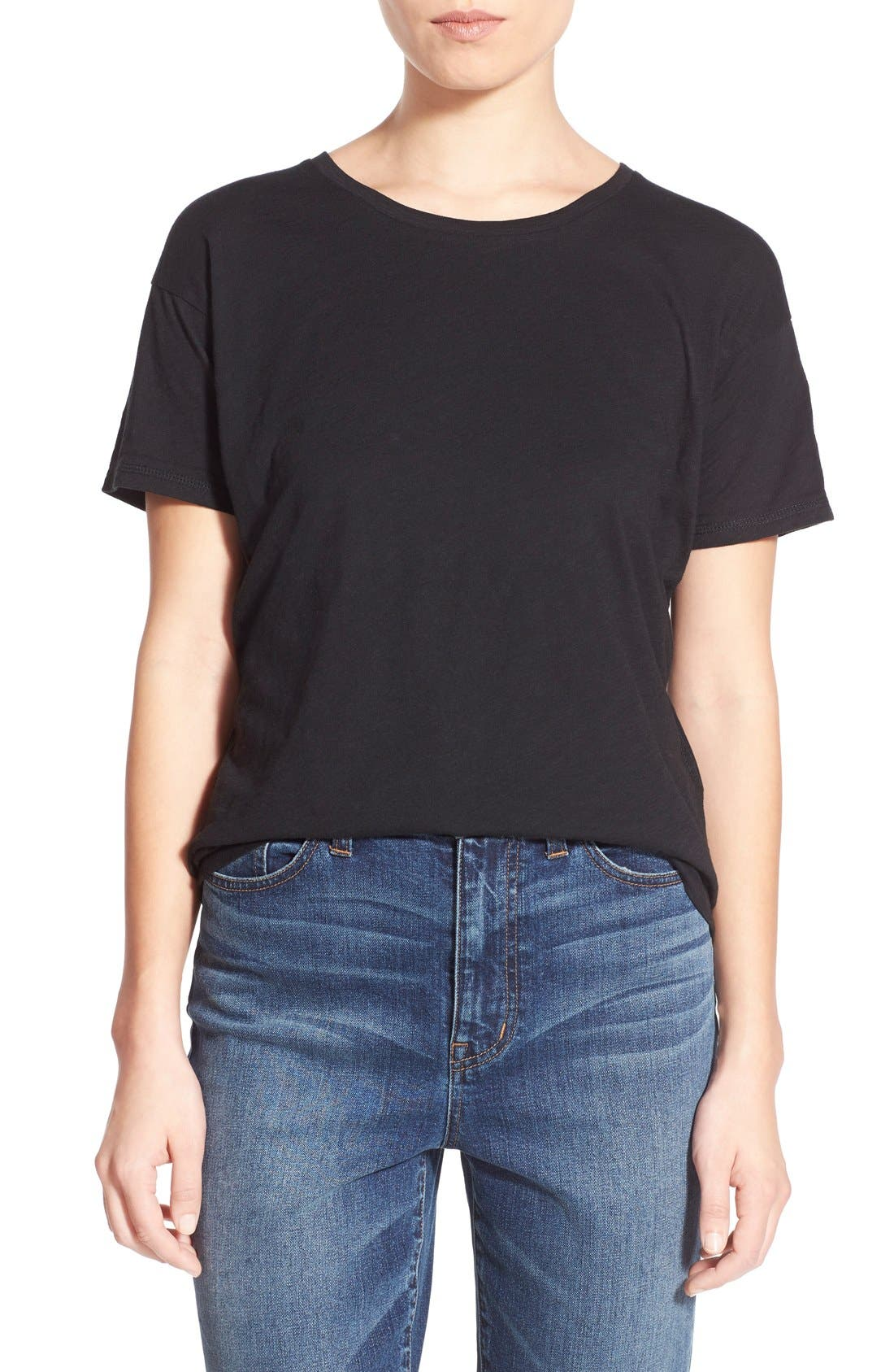 Womens Madewell Tops Blouses Tees Nordstrom Elaine Navy Top Leux Studio S