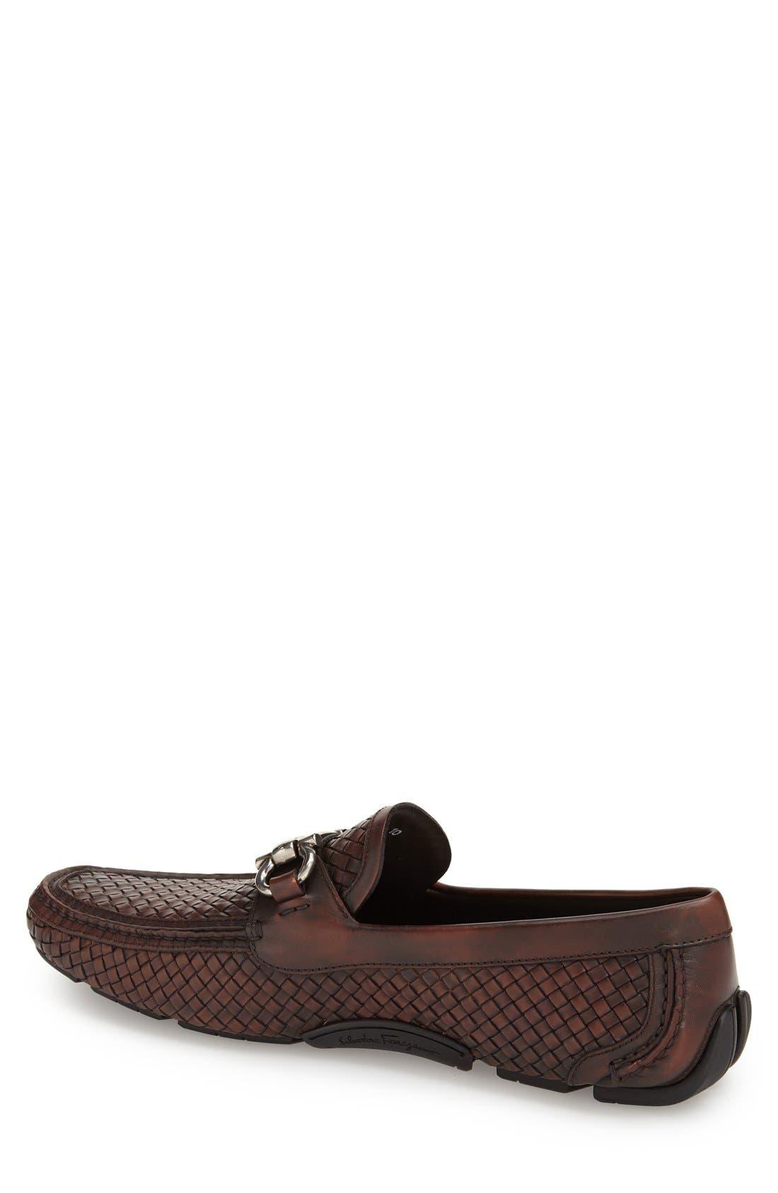 'Parigi' Woven Bit Loafer,                             Alternate thumbnail 2, color,                             Brown Hen/ T Moro Leather