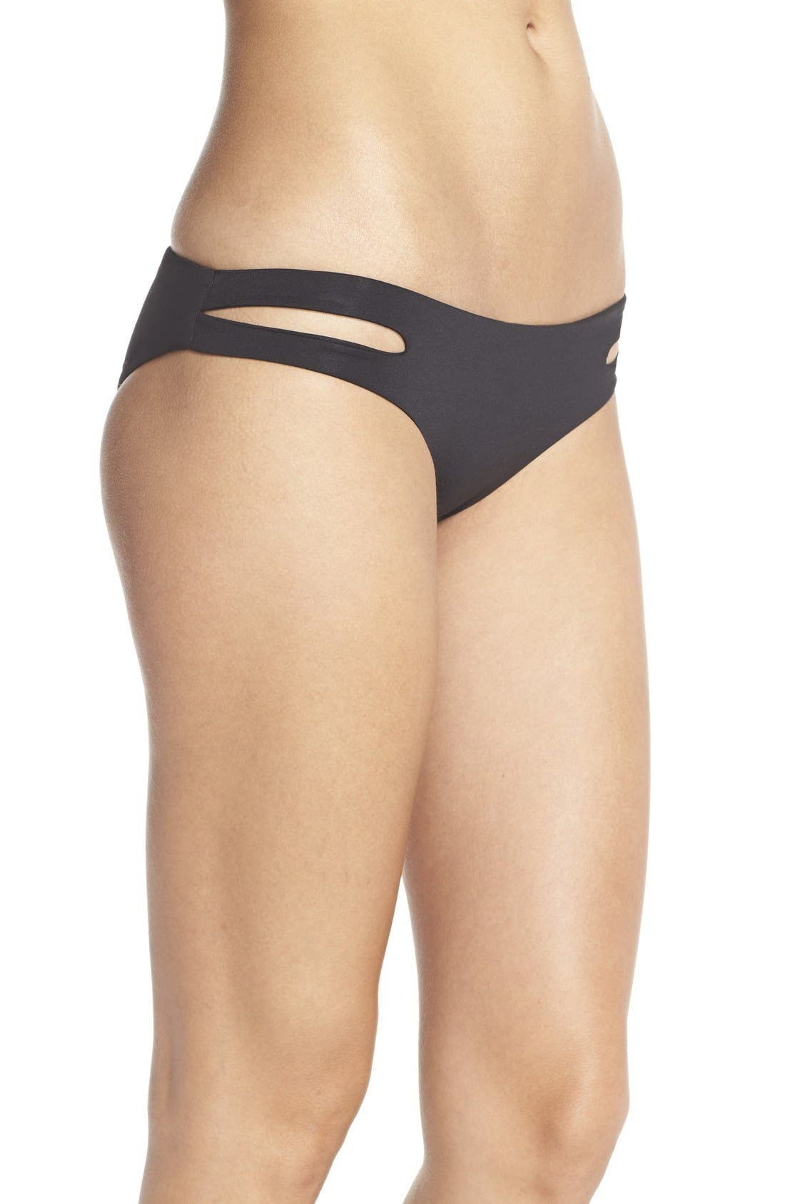 Estella Classic Bikini Bottoms,                             Alternate thumbnail 3, color,                             Black