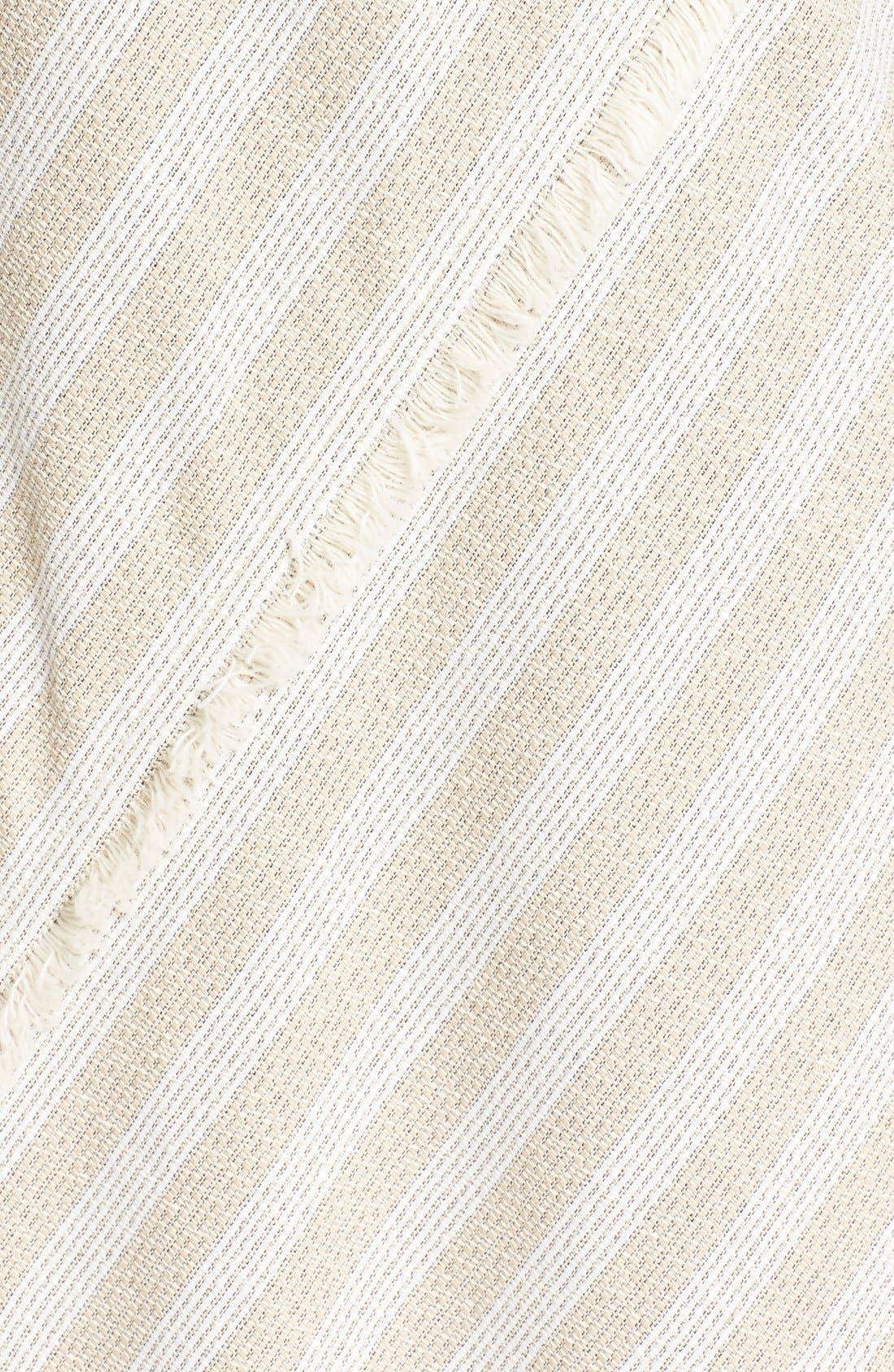 'Cosby' Stripe Sleeveless Dress,                             Alternate thumbnail 3, color,                             Natural Stripe
