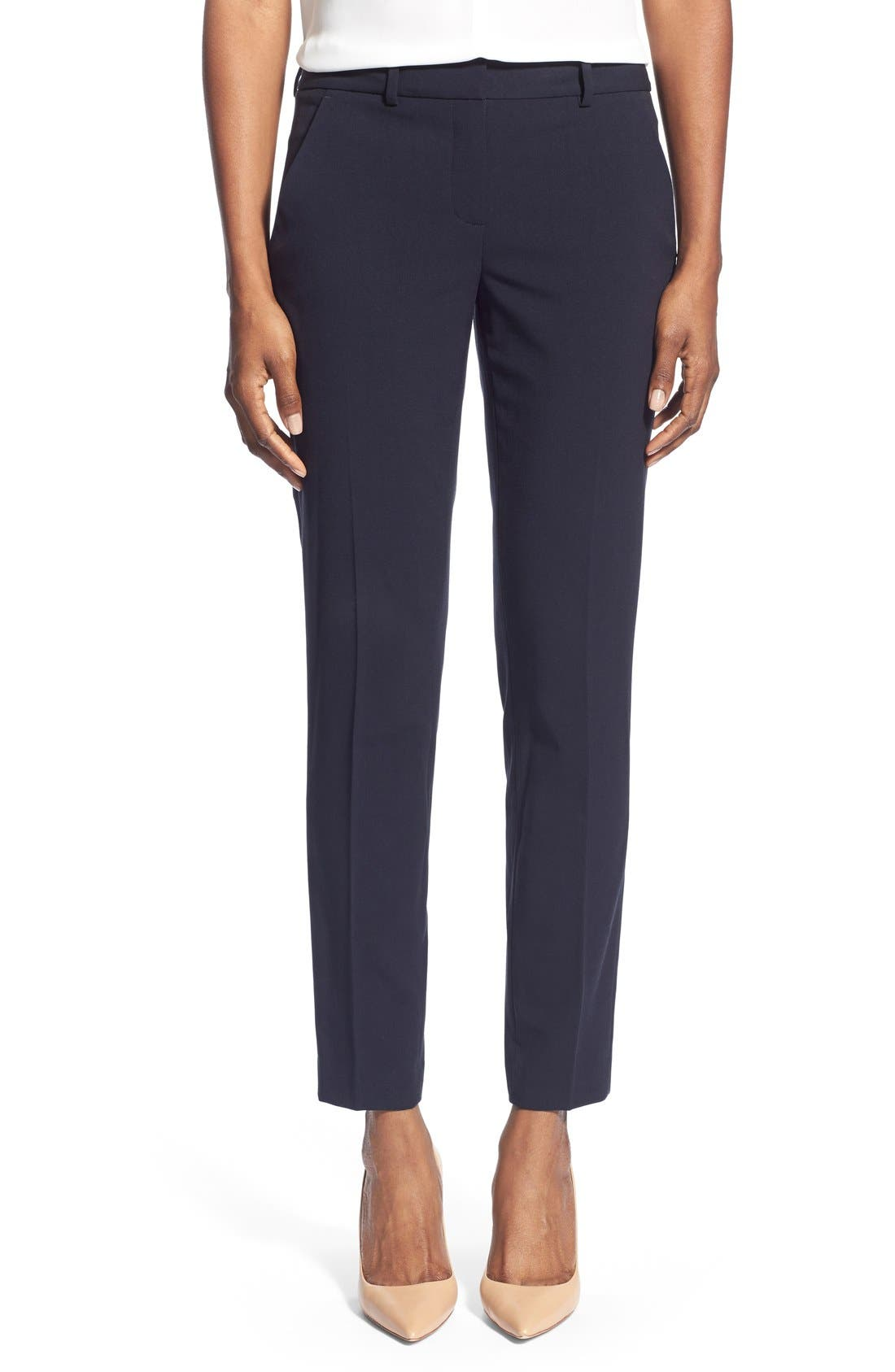 Marlena Ankle Pants,                             Main thumbnail 1, color,                             Navy
