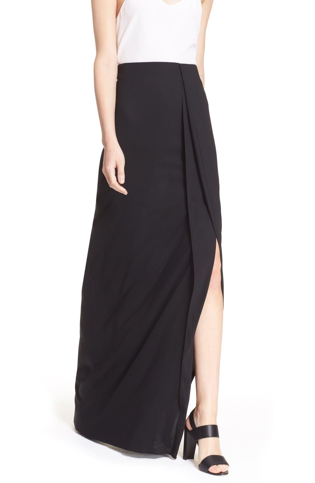 Alternate Image 6  - Donna Karan New York Crepe Flutter Maxi Skirt