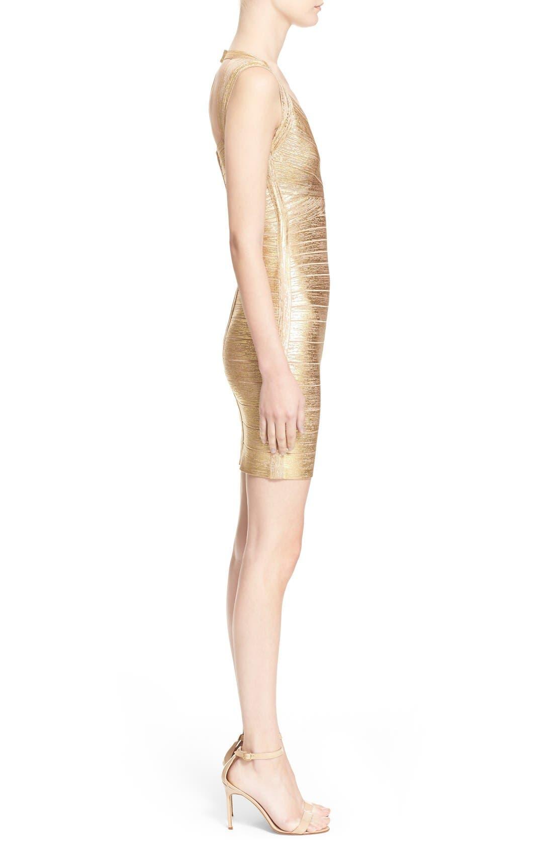 Alternate Image 4  - Herve Leger Metallic Bandage Dress