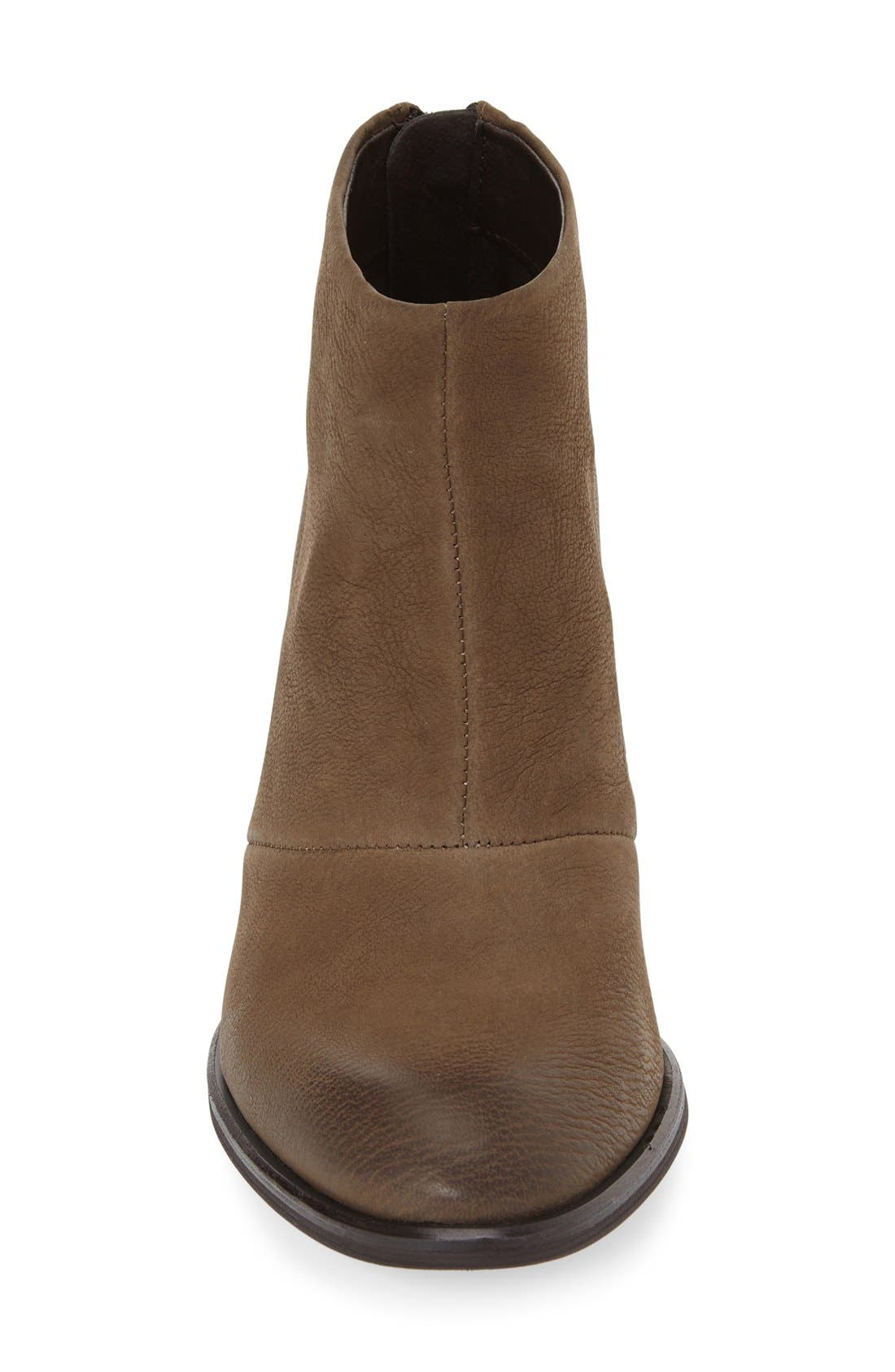 'Devyn' Ankle Bootie,                             Alternate thumbnail 3, color,                             Khaki Leather