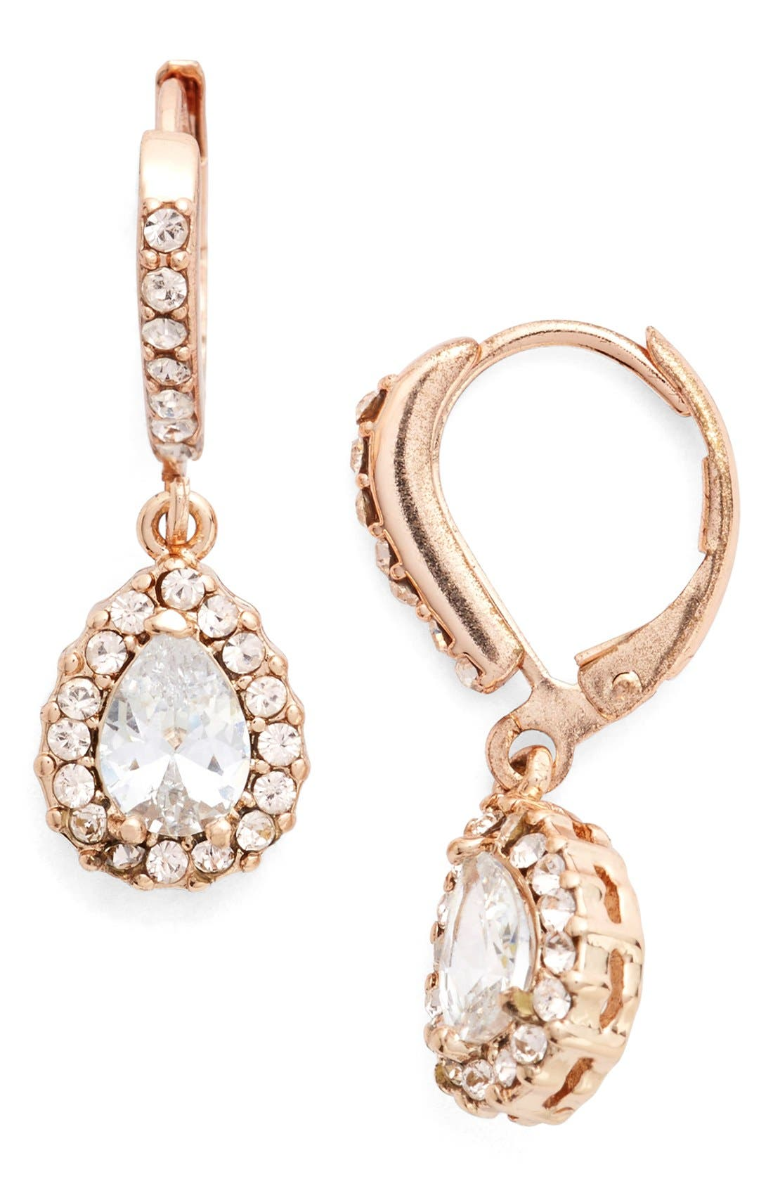 Givenchy Teardrop Crystal Earrings
