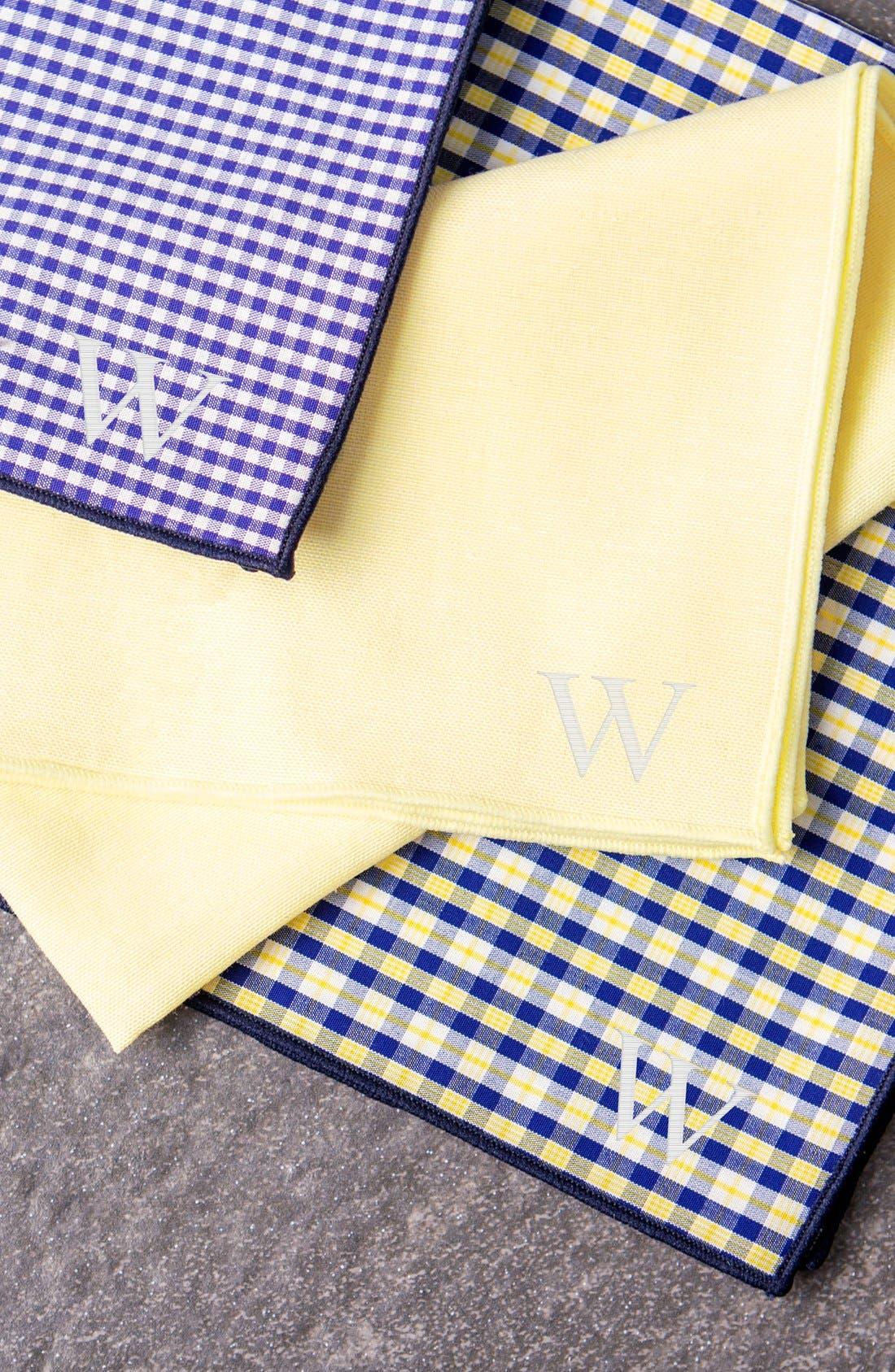 Alternate Image 2  - Cathy's Concepts Monogram Handkerchiefs (Set of 3)