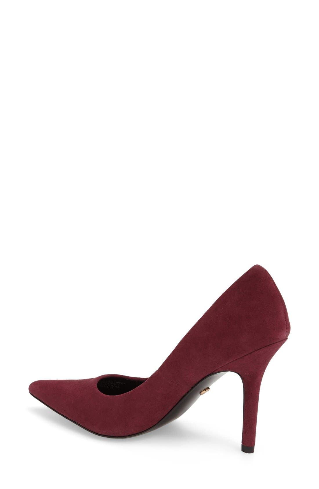 Charles David 'Sway II' Patent Leather Pump,                             Alternate thumbnail 2, color,                             Burgundy Suede