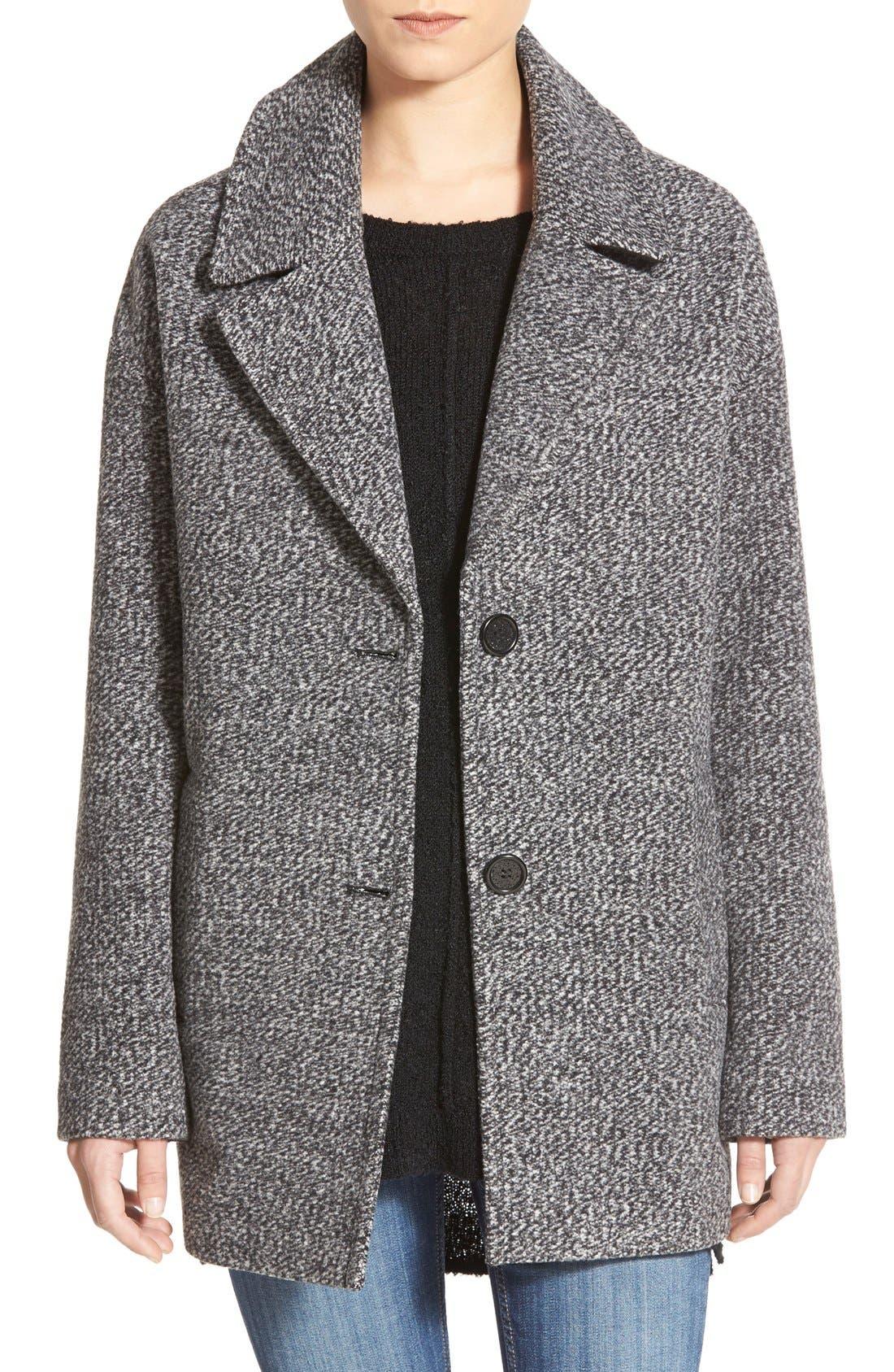Tweed Car Coat,                         Main,                         color, Grey