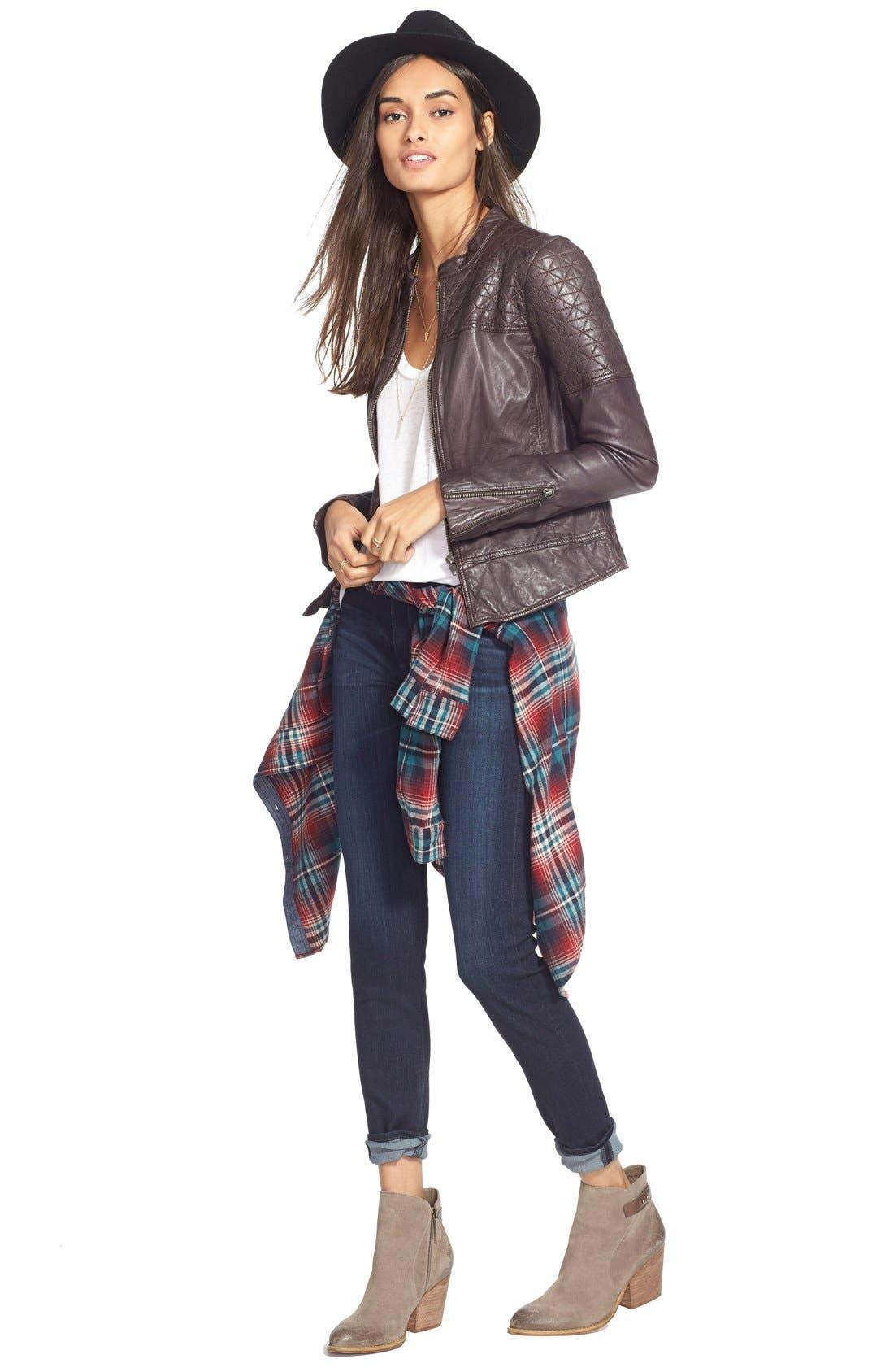 Alternate Image 6  - AG The Farrah High Waist Skinny Jeans (Brooks)